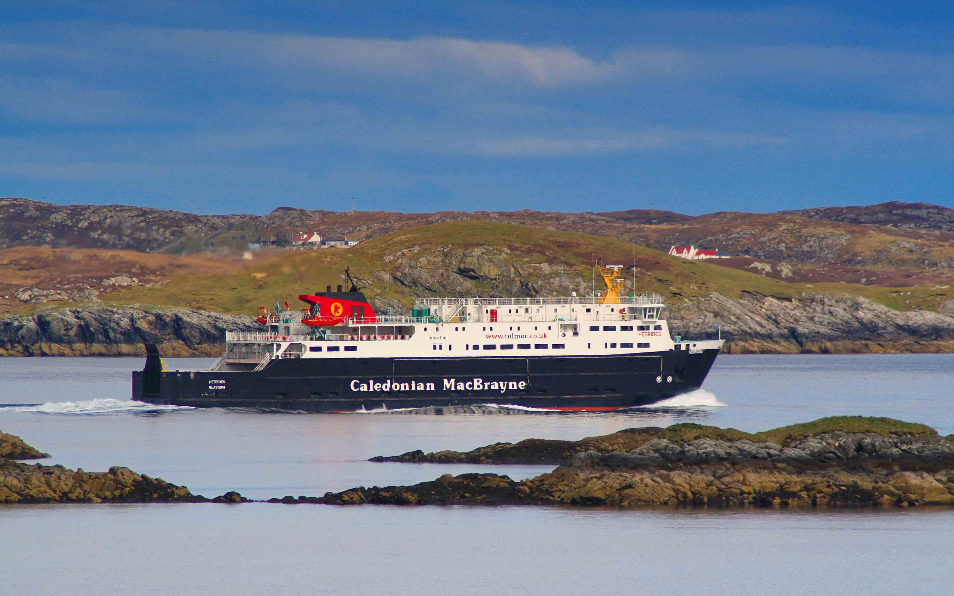 Hebrides passing Scalpay, bound for Uig (Ships of CalMac)