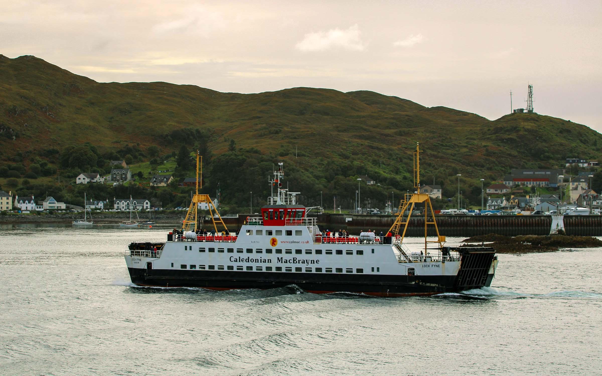 Loch Fyne approaching Mallaig (Ships of CalMac)