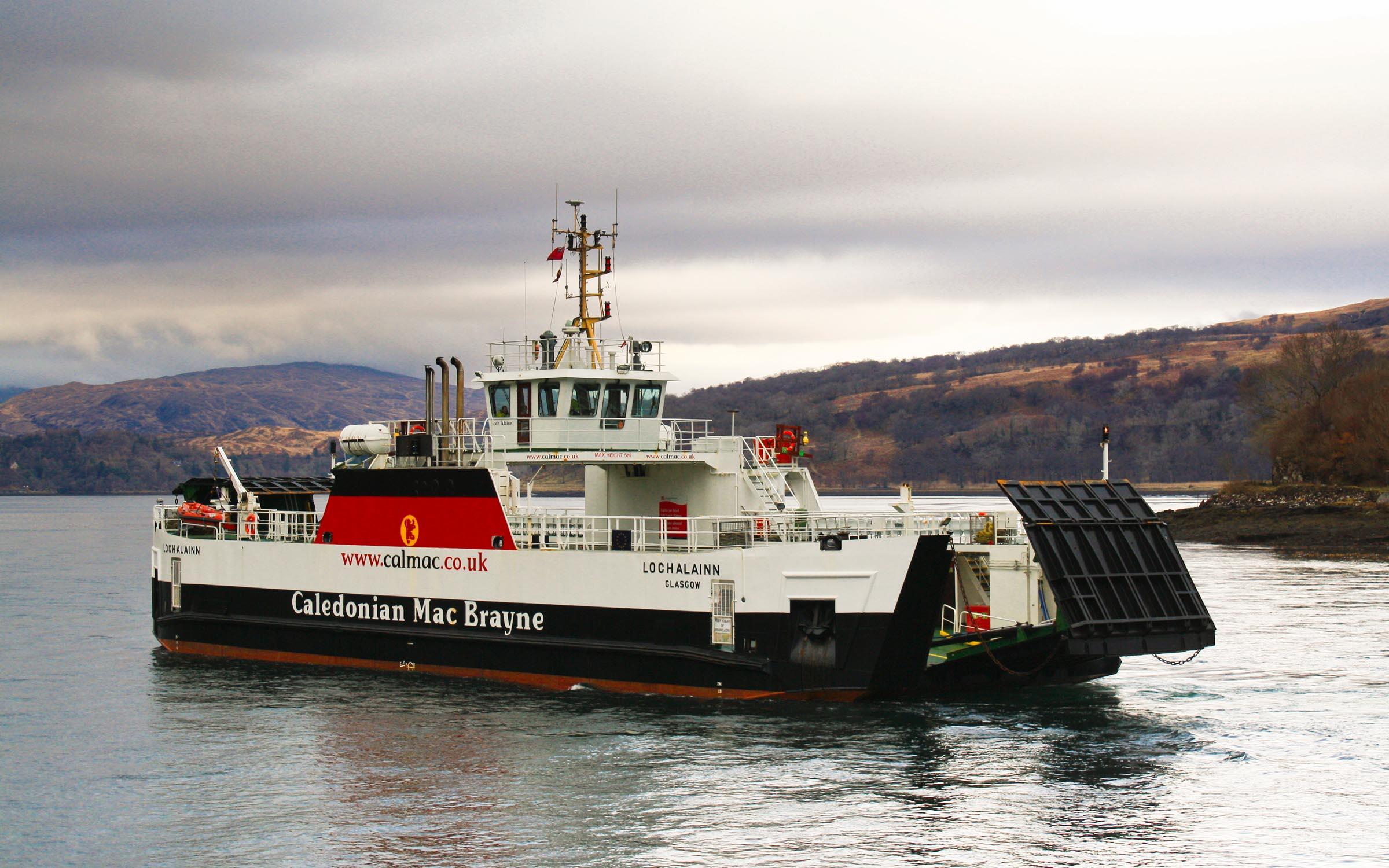 Loch Alainn arriving at Lochaline (Ships of CalMac)
