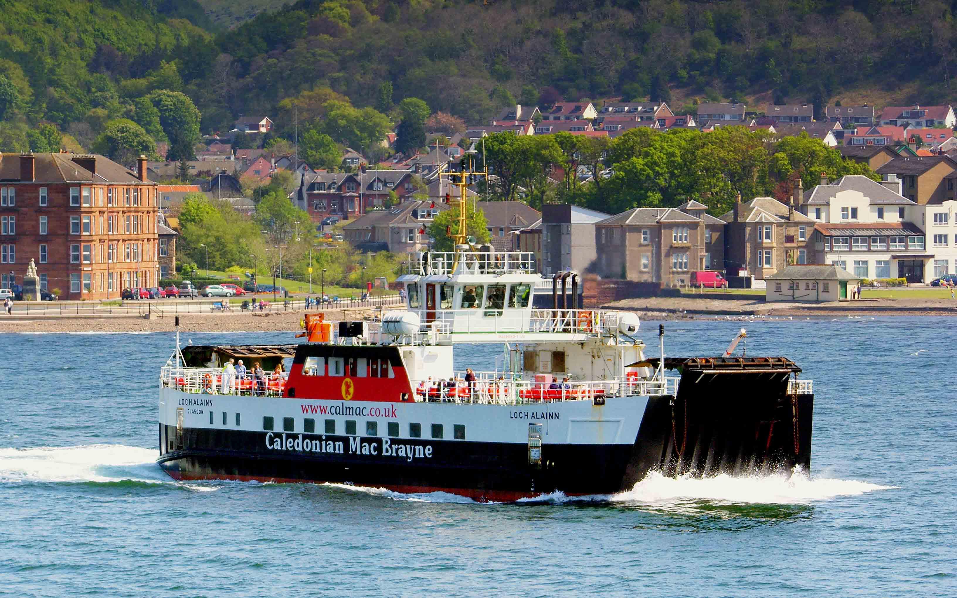 Loch Alainn crossing to Cumbrae Slip (Ships of CalMac)