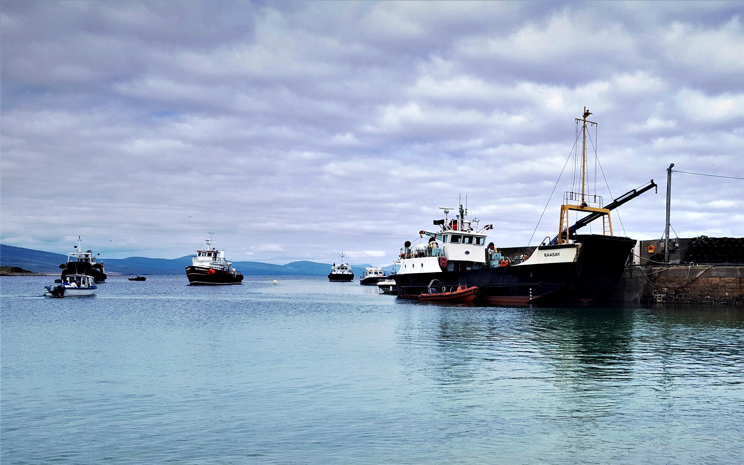 Bruernish (left) and Raasay at Clare Island (Mark Wemyss)