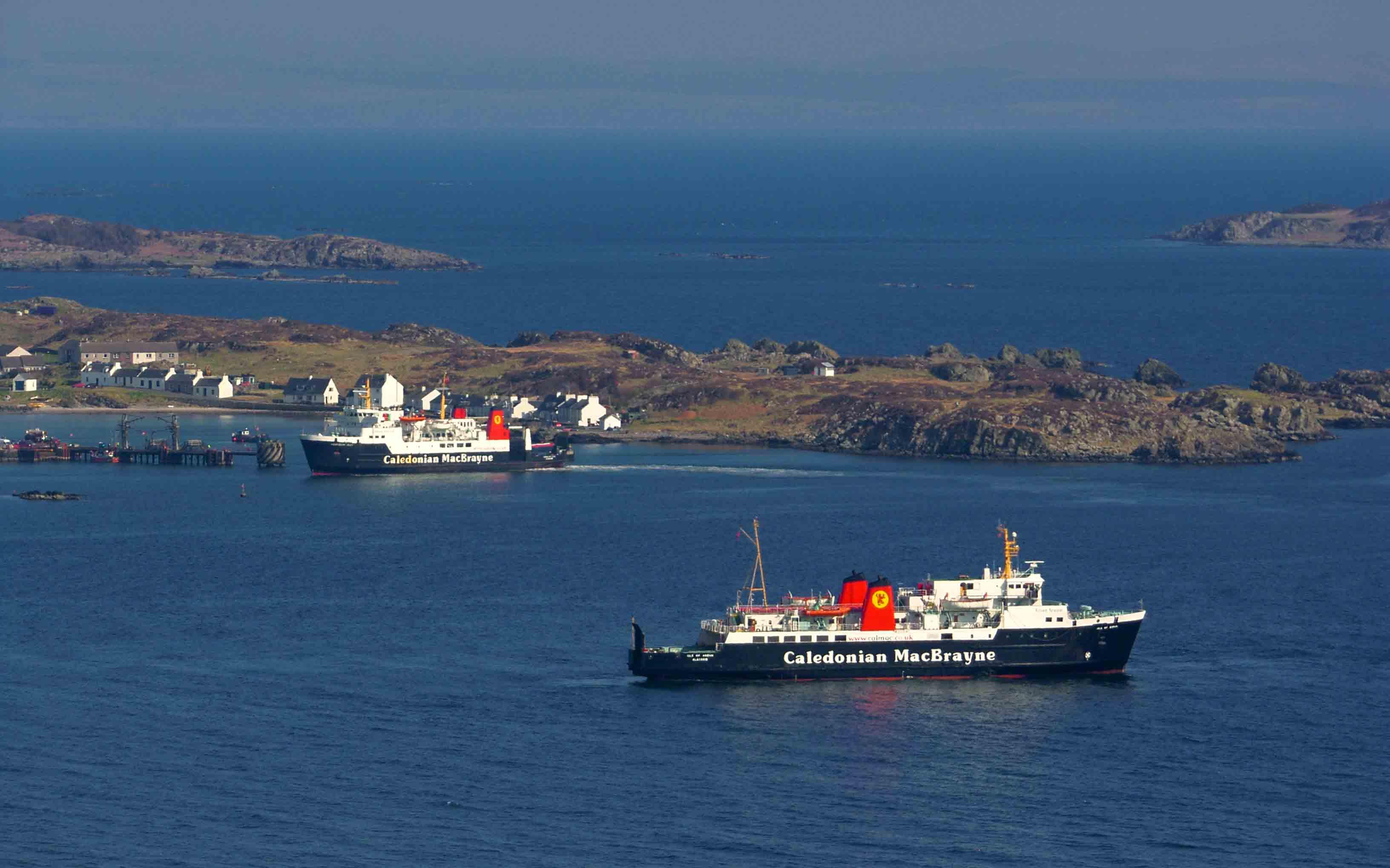Hebridean Isles and Isle of Arran at Port Ellen (Ships of CalMac)