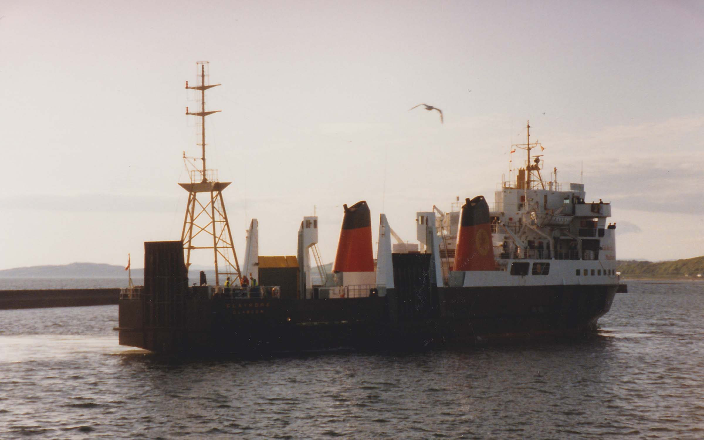 Claymore arriving in Ardrossan (Ships of CalMac)