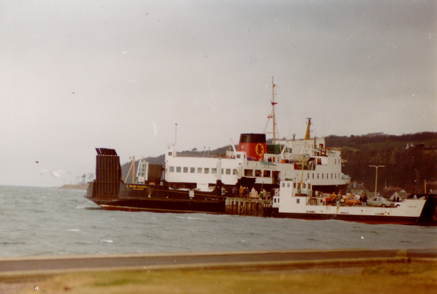 Coruisk (right) with Glen Sannox at Largs (Jim Aikman Smith)
