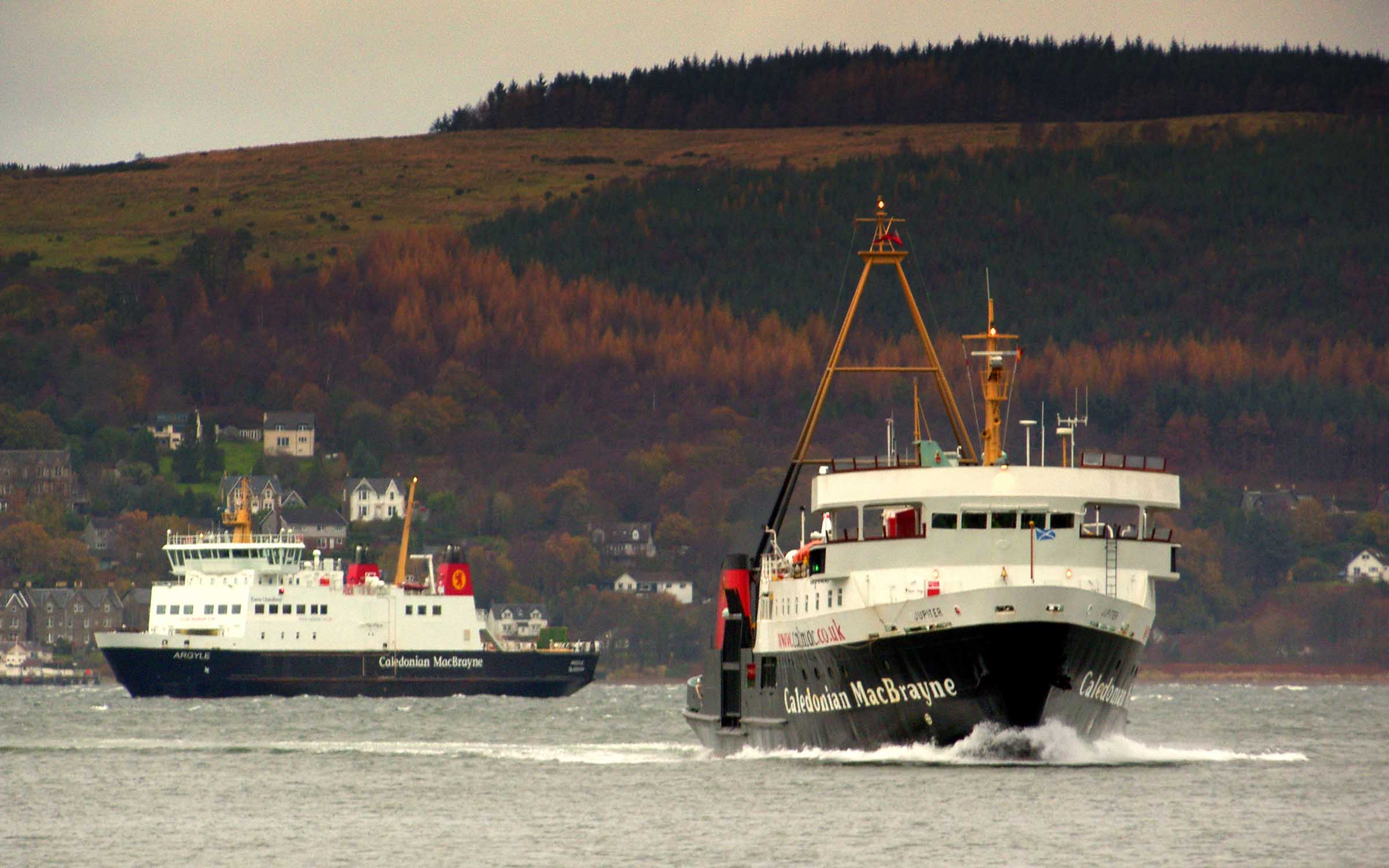 Jupiter and Argyle on the Upper Clyde (Ships of CalMac)