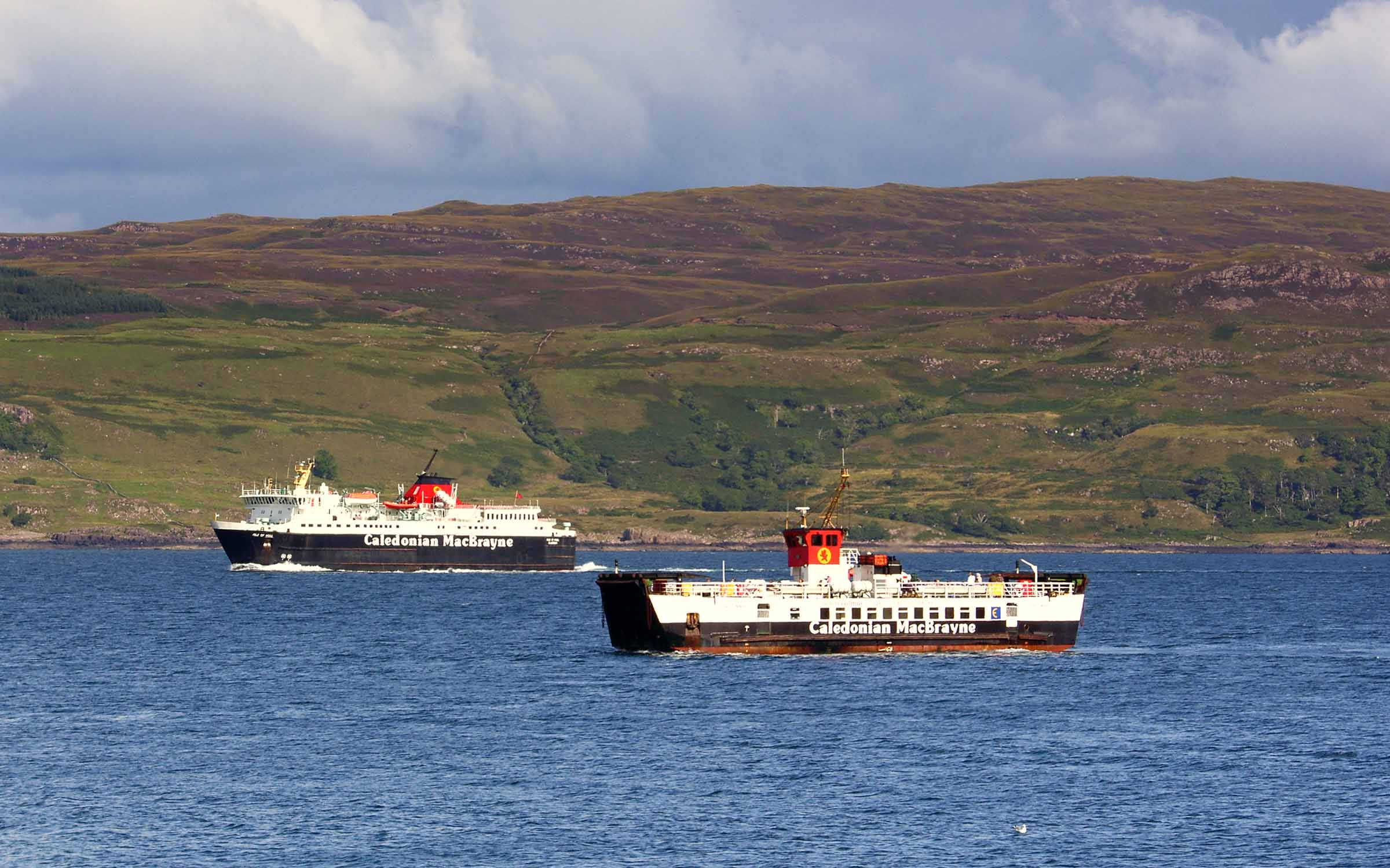 Loch Linnhe and Isle of Mull off Tobermory (Ships of CalMac)