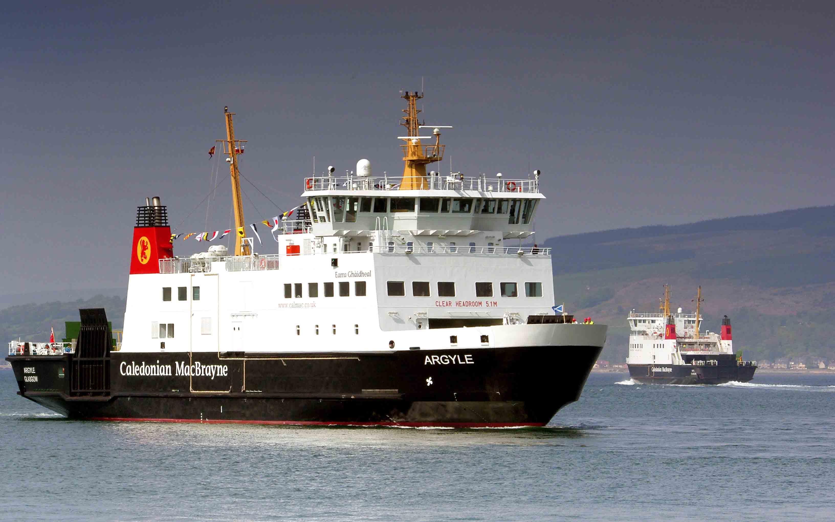 Argyle's first arrival at Wemyss Bay (Ships of CalMac)