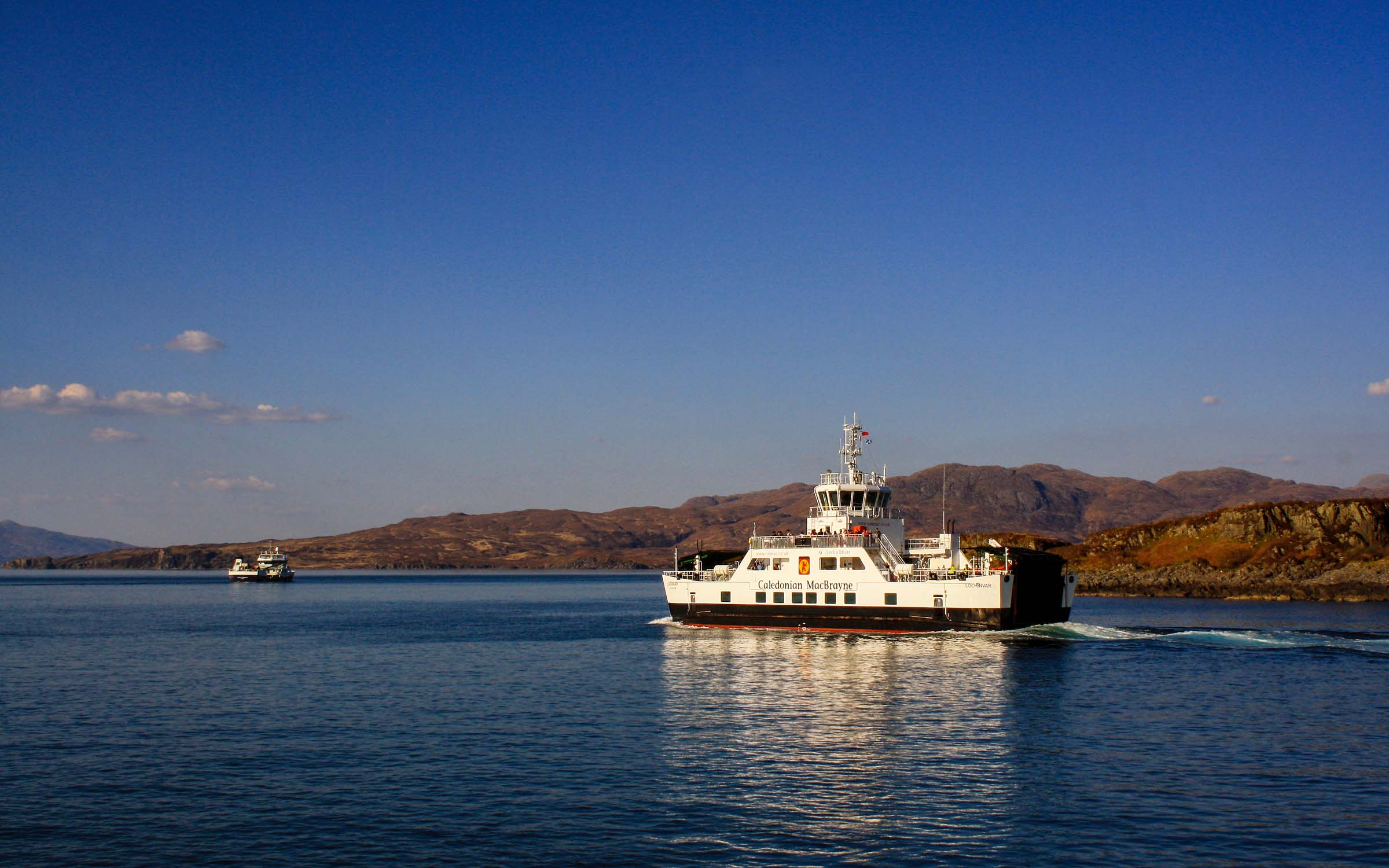 Lochinvar setting out to Armadale (Ships of CalMac)