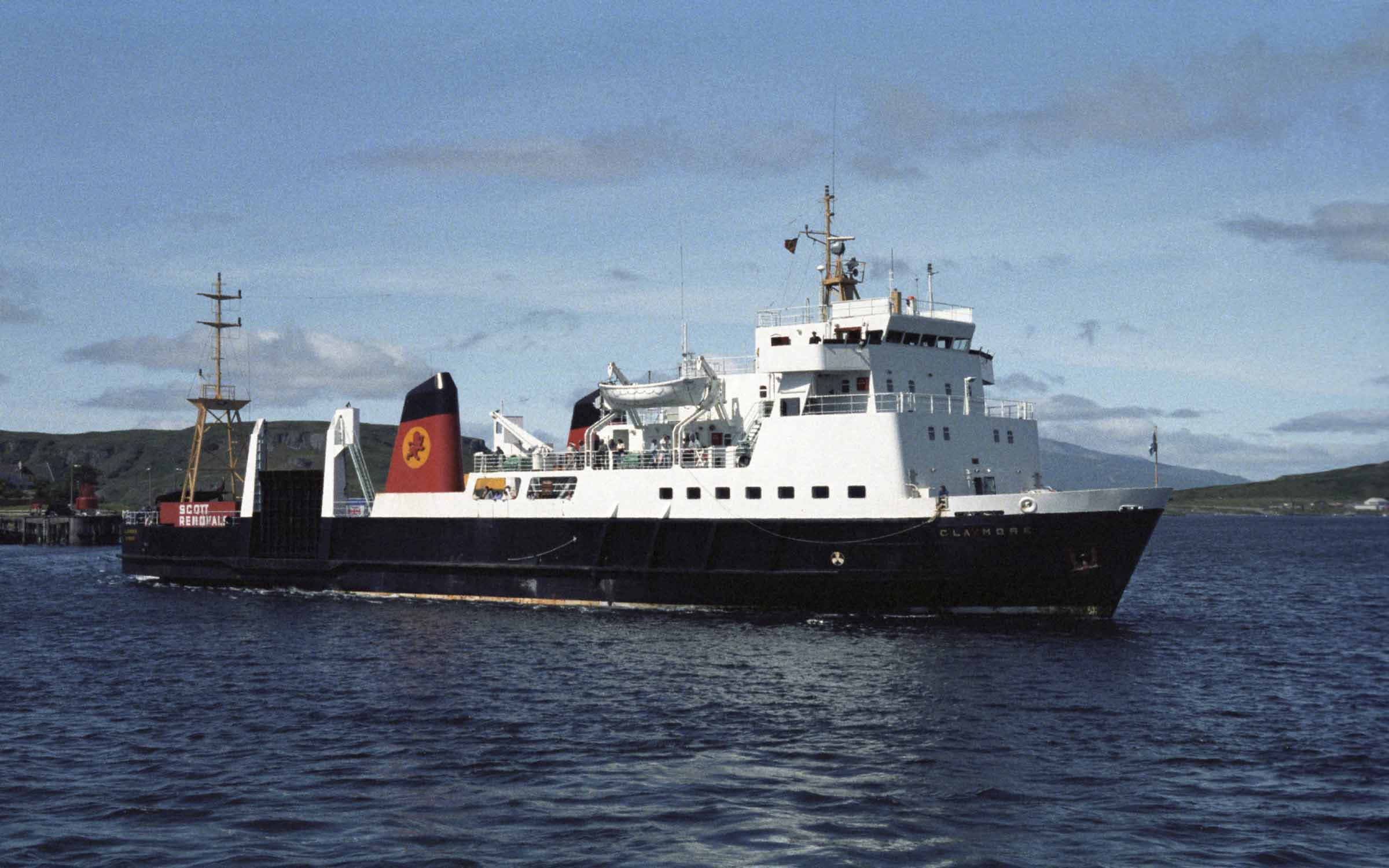 Claymore arriving at Oban (Ships of CalMac)