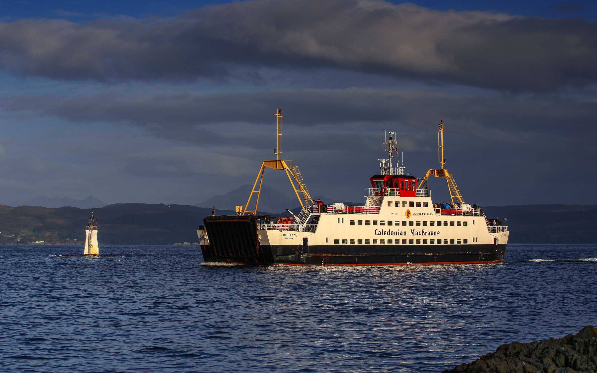 Loch Fyne approaching Mallaig Harbour entrance (Ships of CalMac)