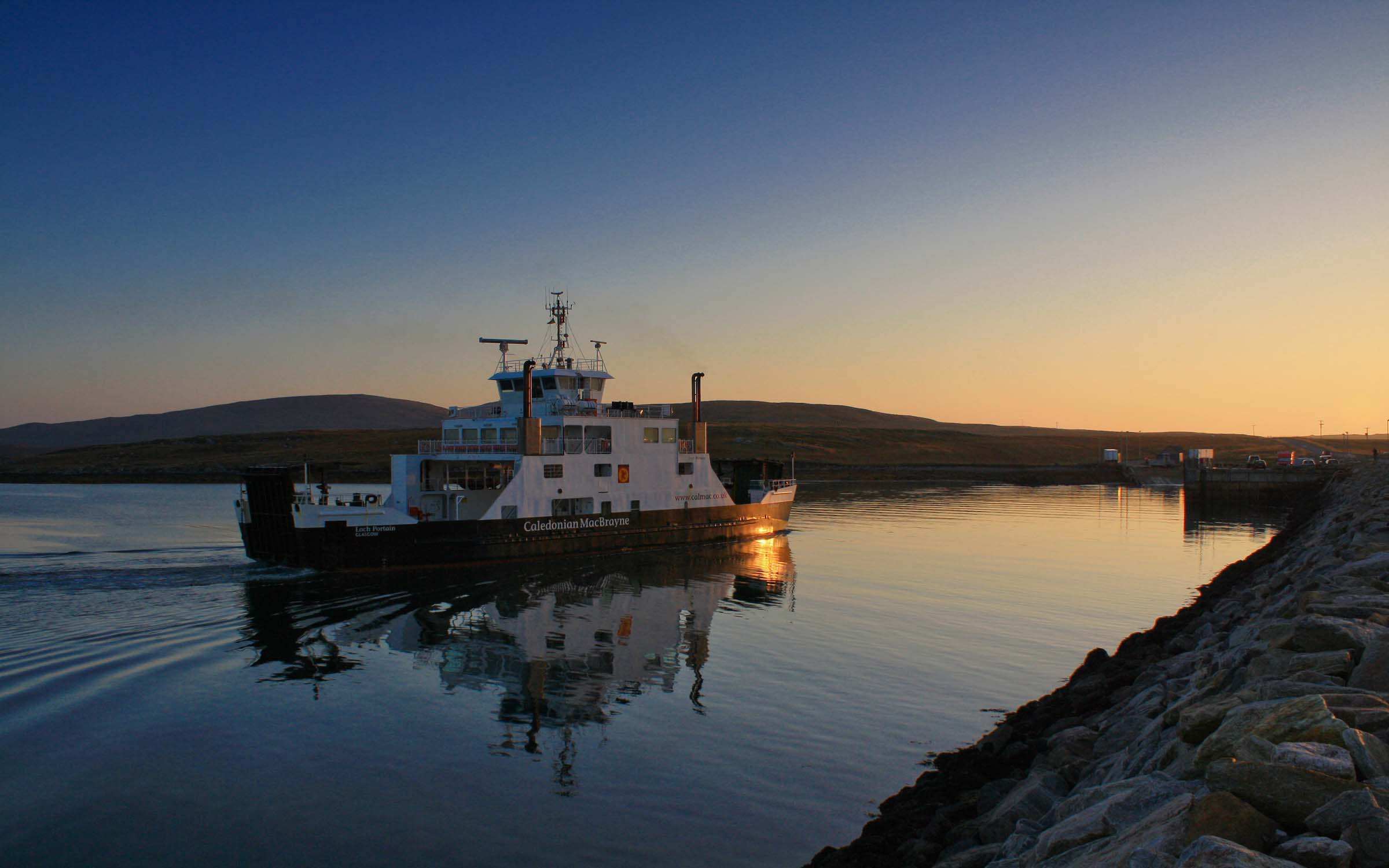Loch Portain approaching Otternish (Ships of CalMac)