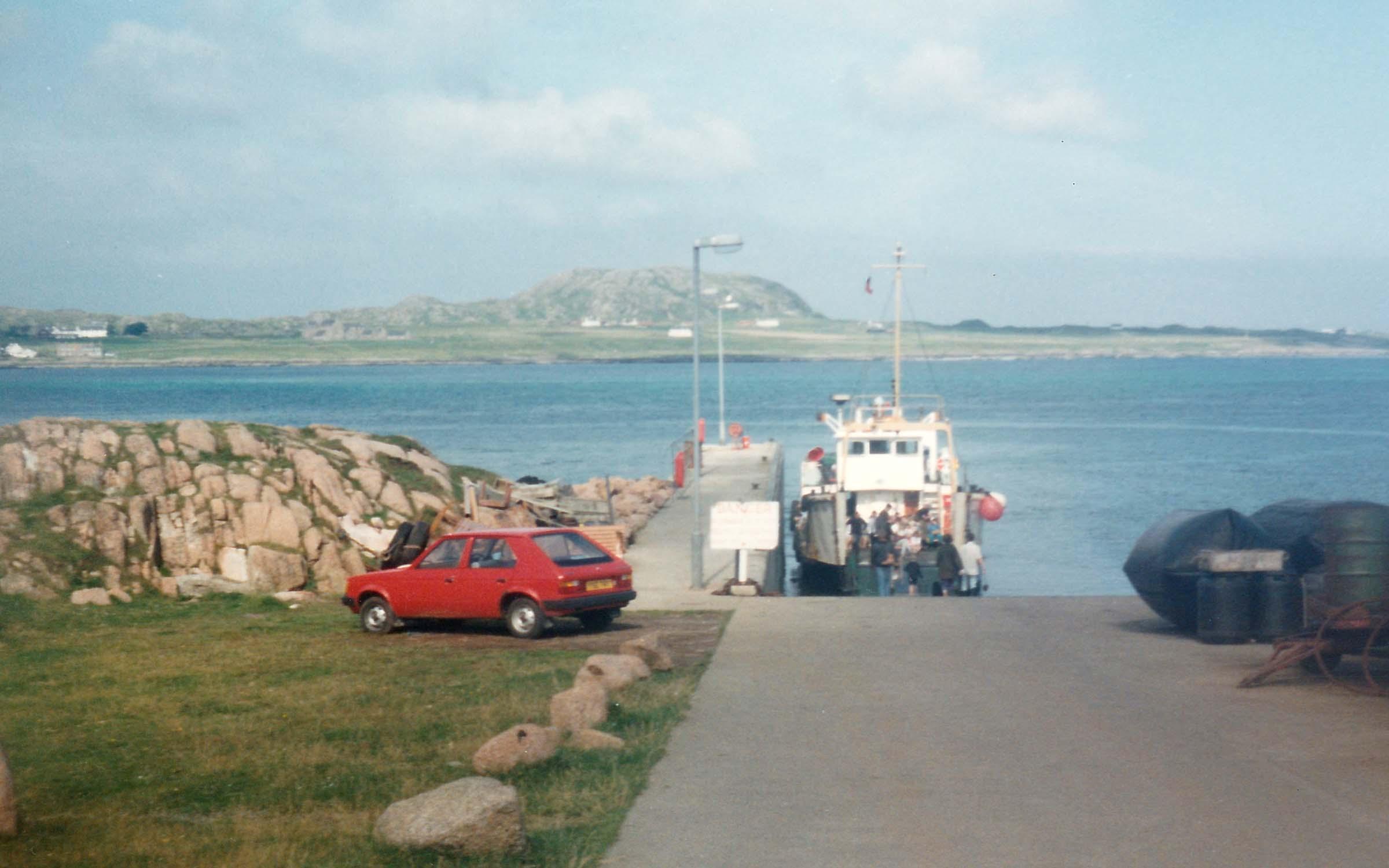 Morvern at Fionnphort slipway (Ships of CalMac)