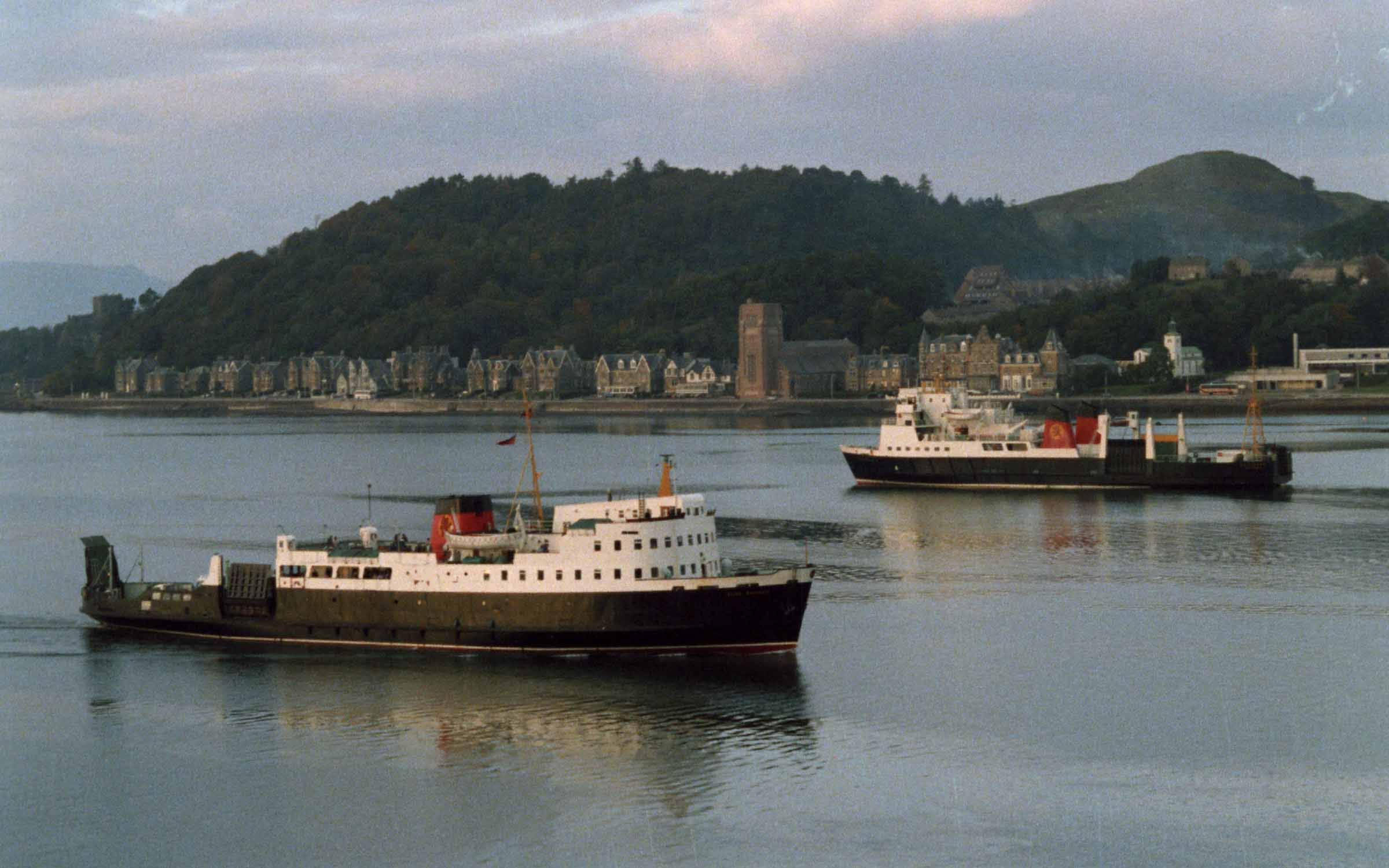 Claymore and Glen Sannox in Oban Bay (Ships of CalMac)