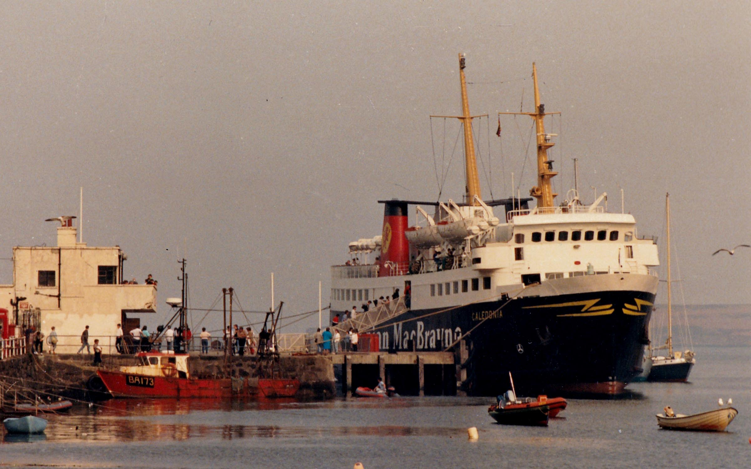 Caledonia alongside at Tobermory (Jim Aikman Smith)