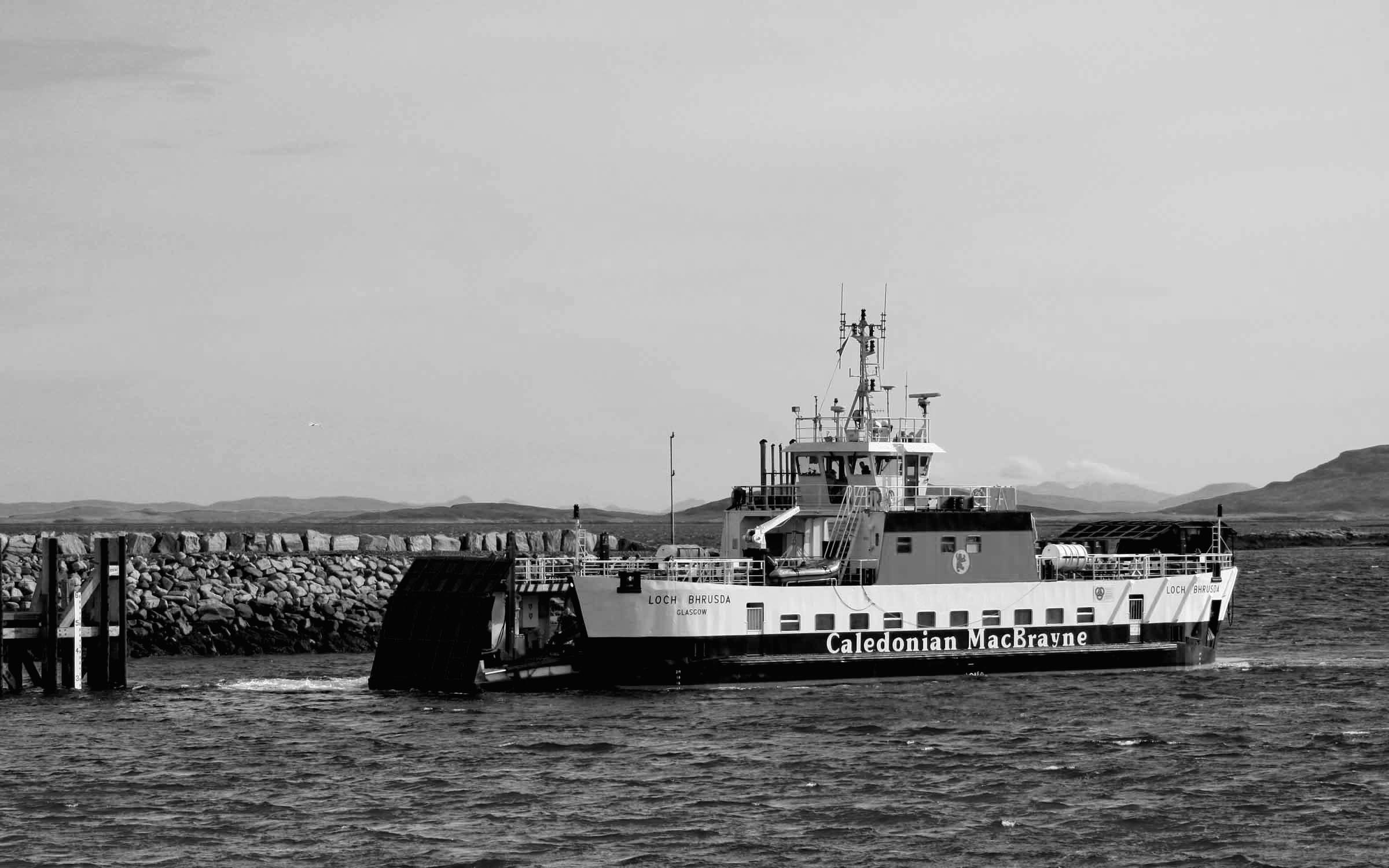 Loch Bhrusda arriving at Berneray (Ships of CalMac)