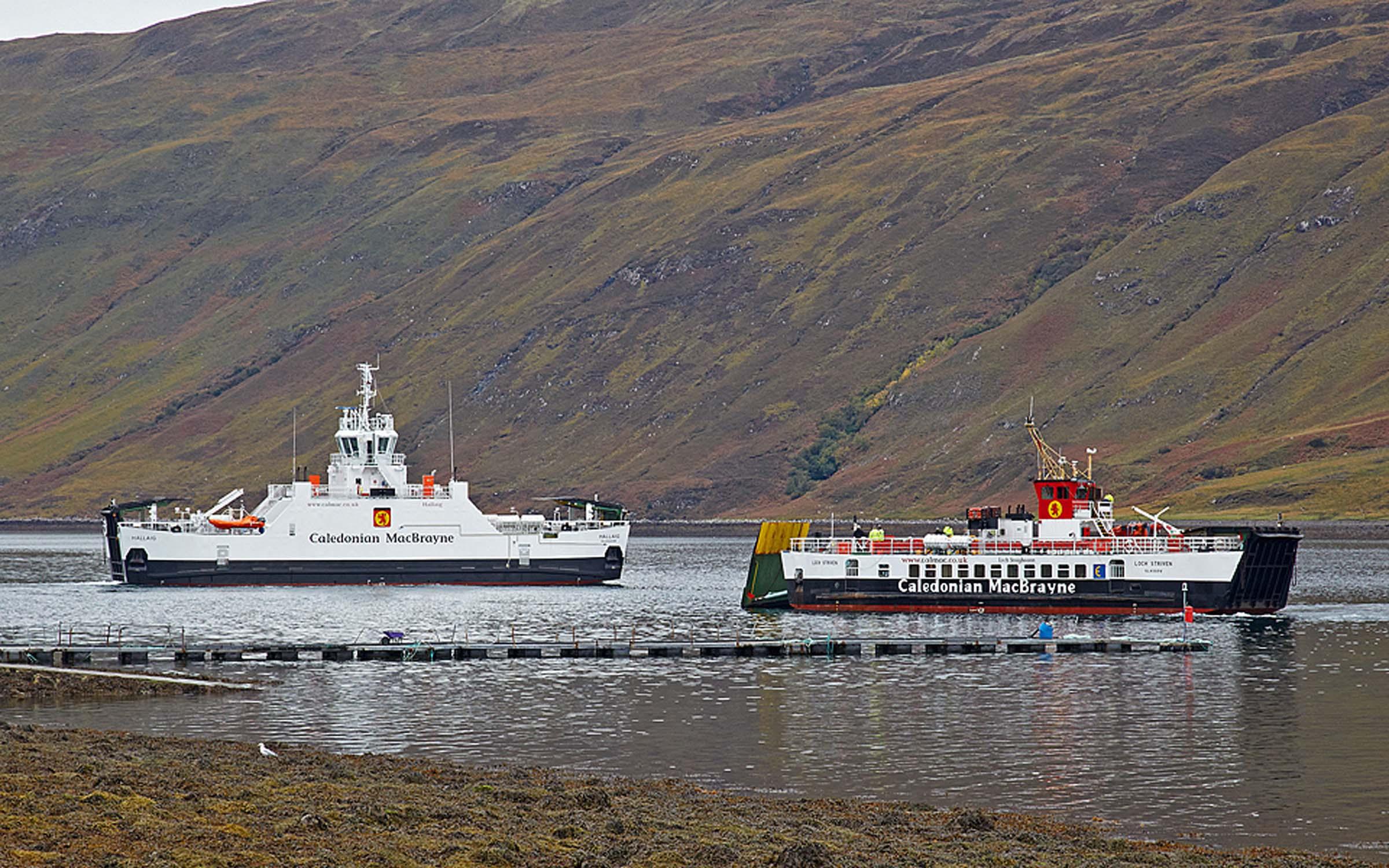 Hallaig and Loch Striven at Sconser (Ships of CalMac)