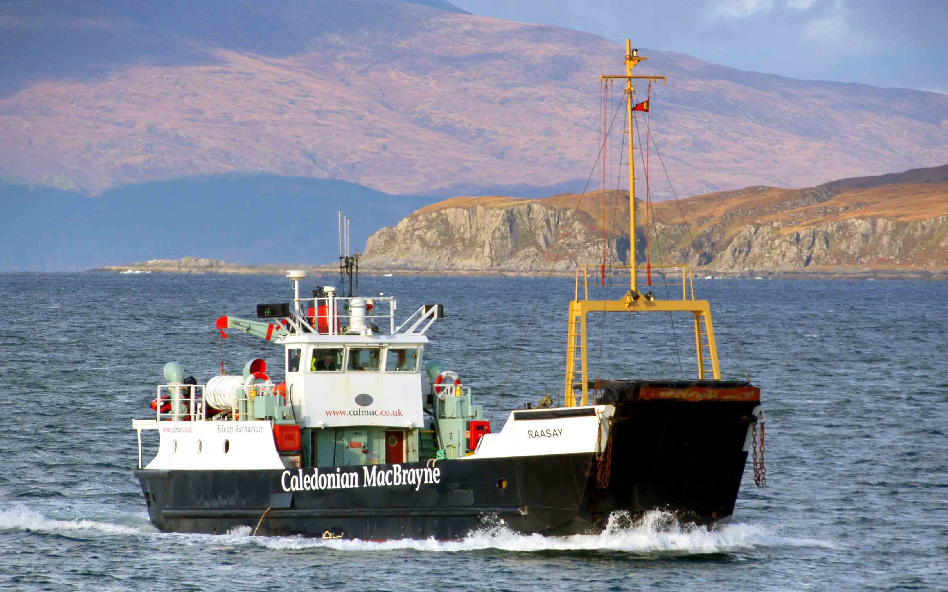 Raasay returning from Canna and Rum (Ships of CalMac)