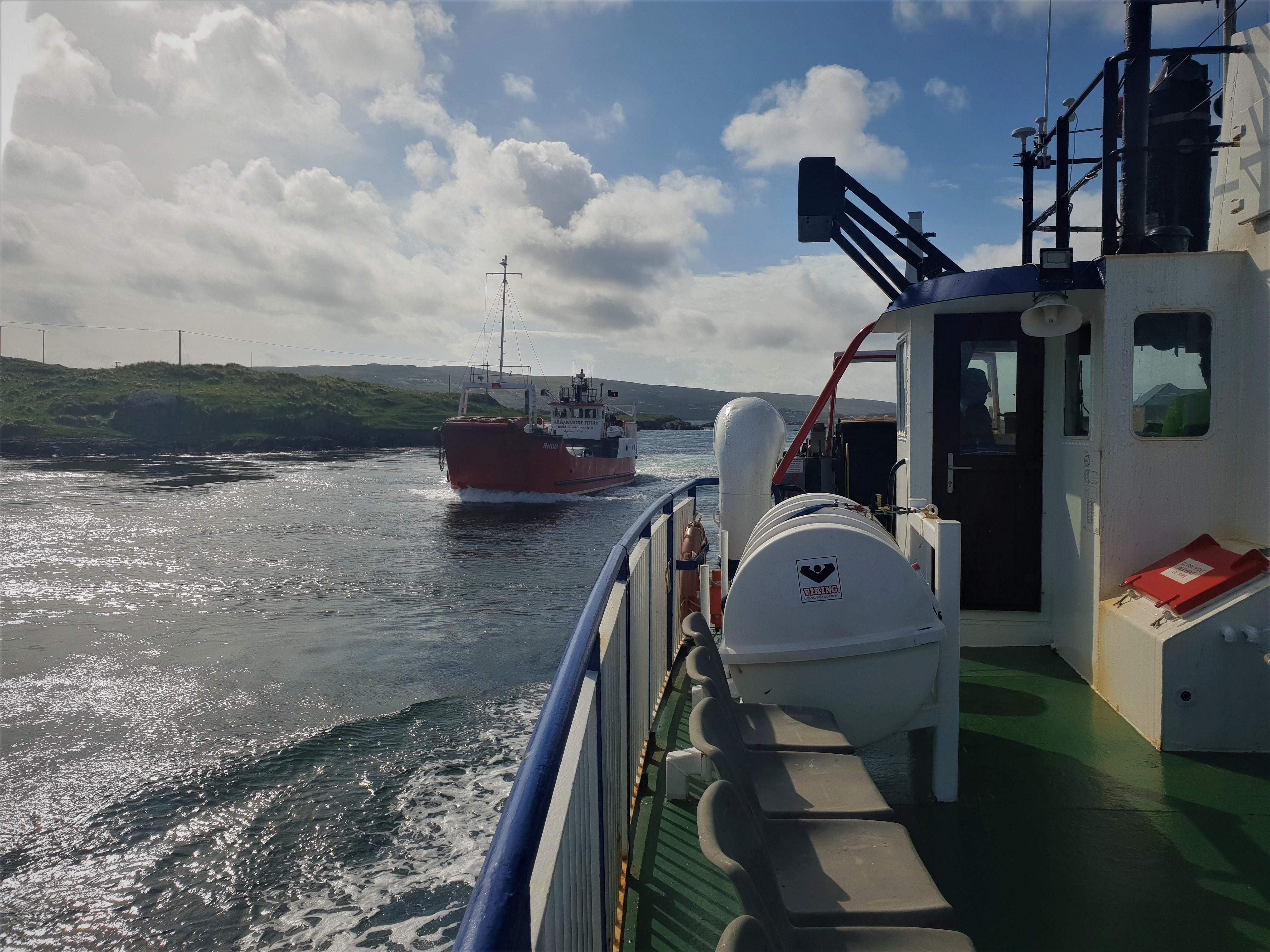 Onboard Morvern, passing Rhum (Mark Wemyss)