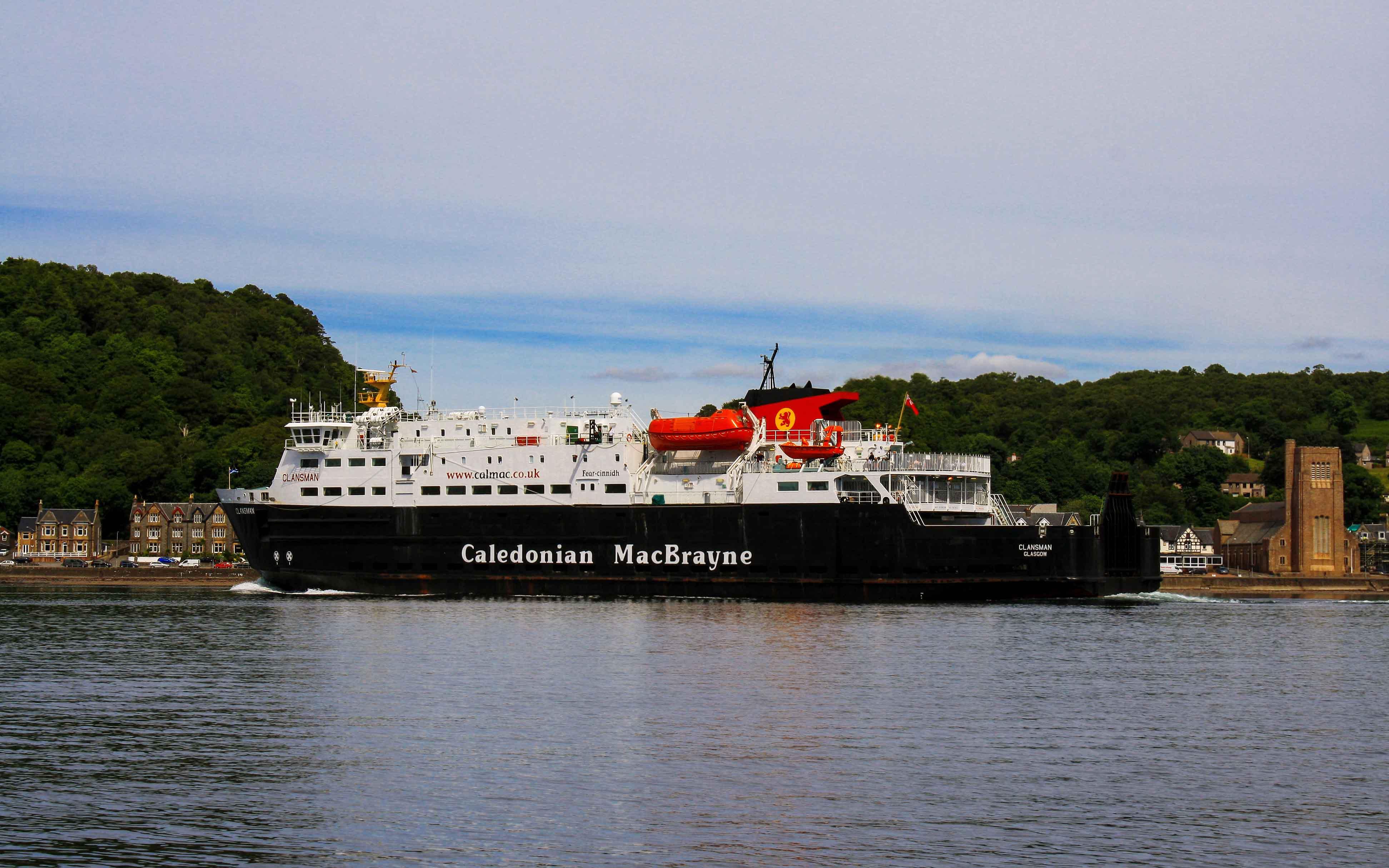 Clansman leaving Oban Bay (Ships of CalMac)