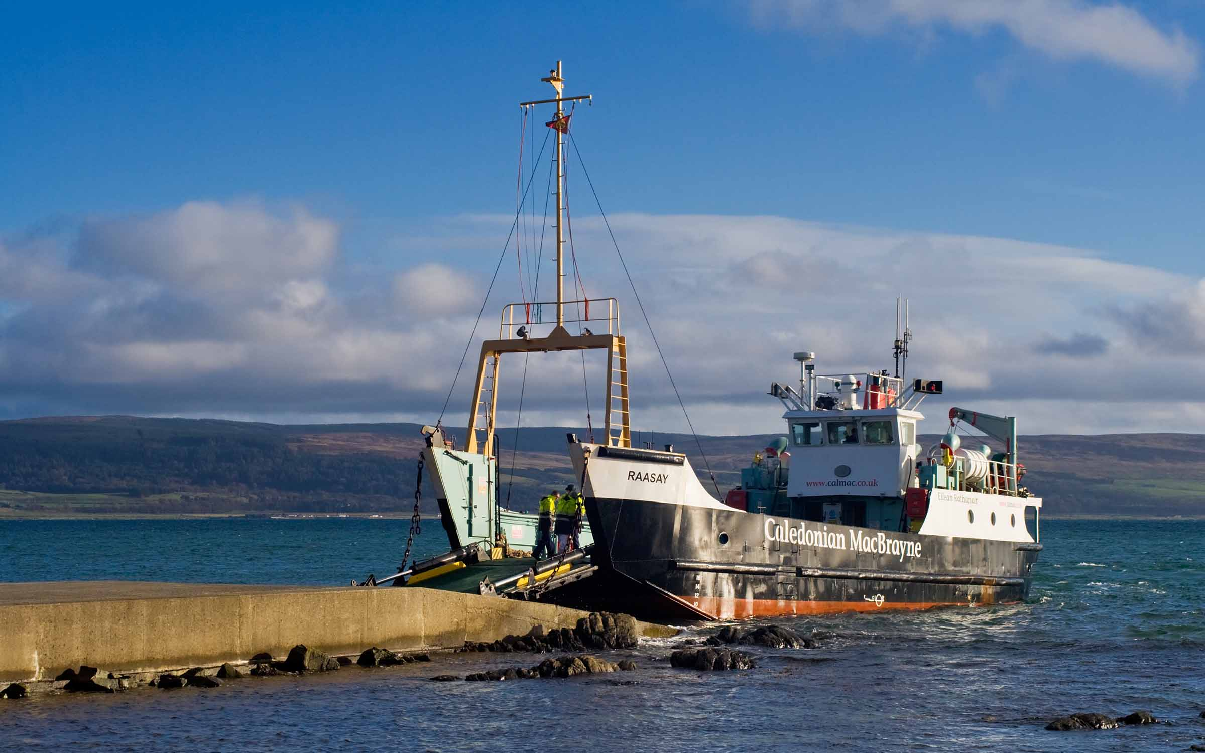 Raasay relieving at Gigha (Ships of CalMac)