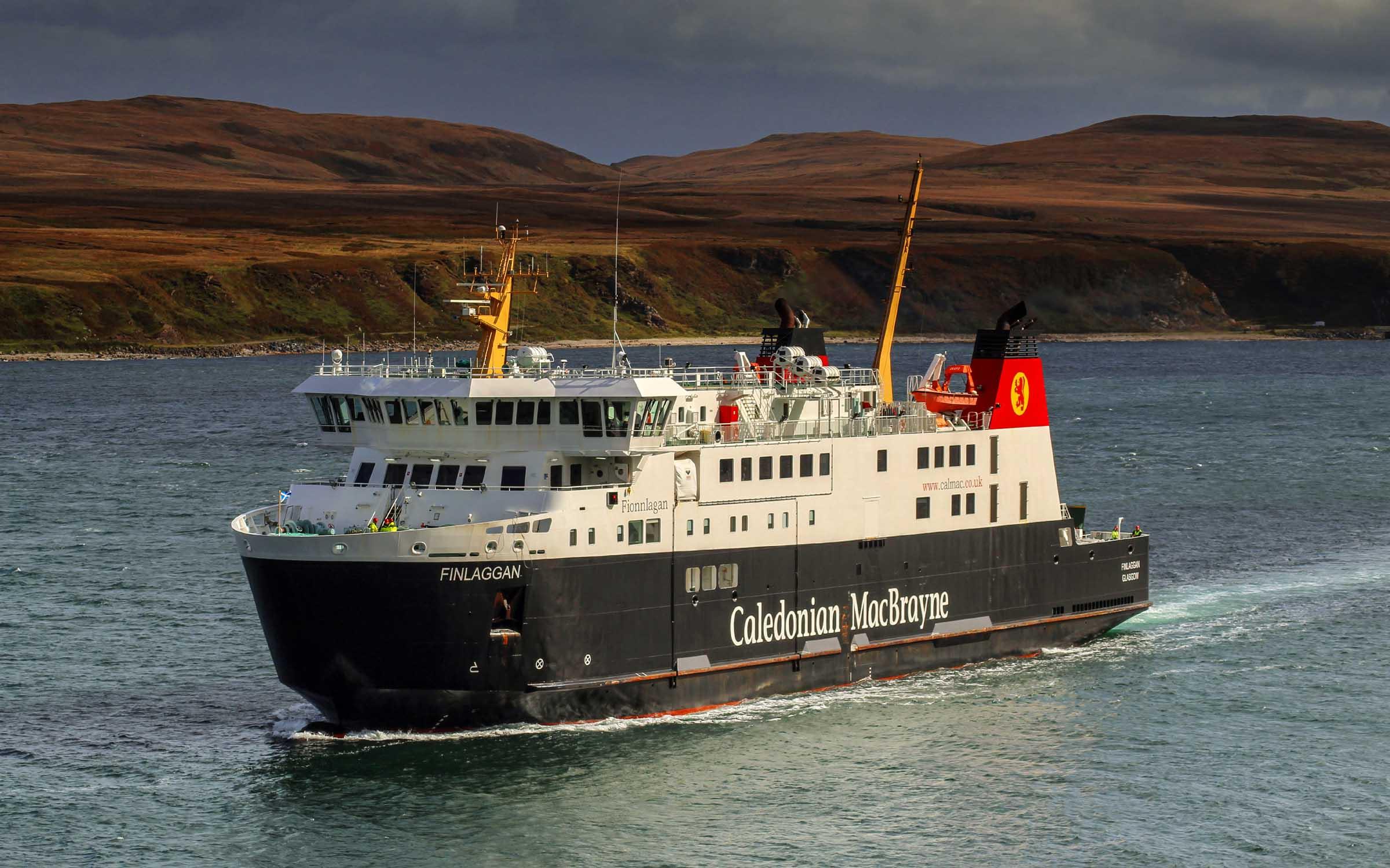 Finlaggan arriving at Port Askaig (Ships of CalMac)