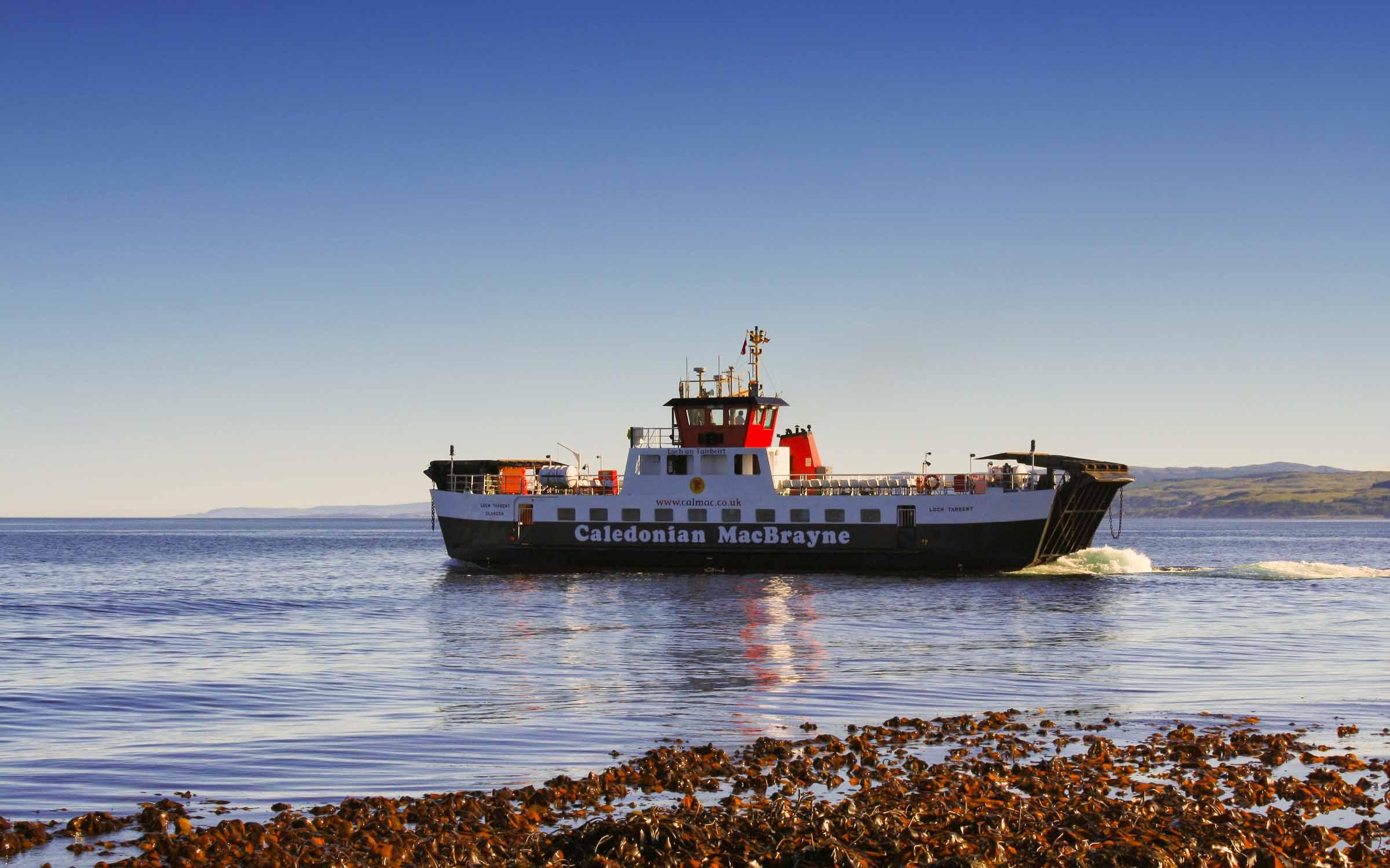 Loch Tarbert leaving Claonaig (Ships of CalMac)