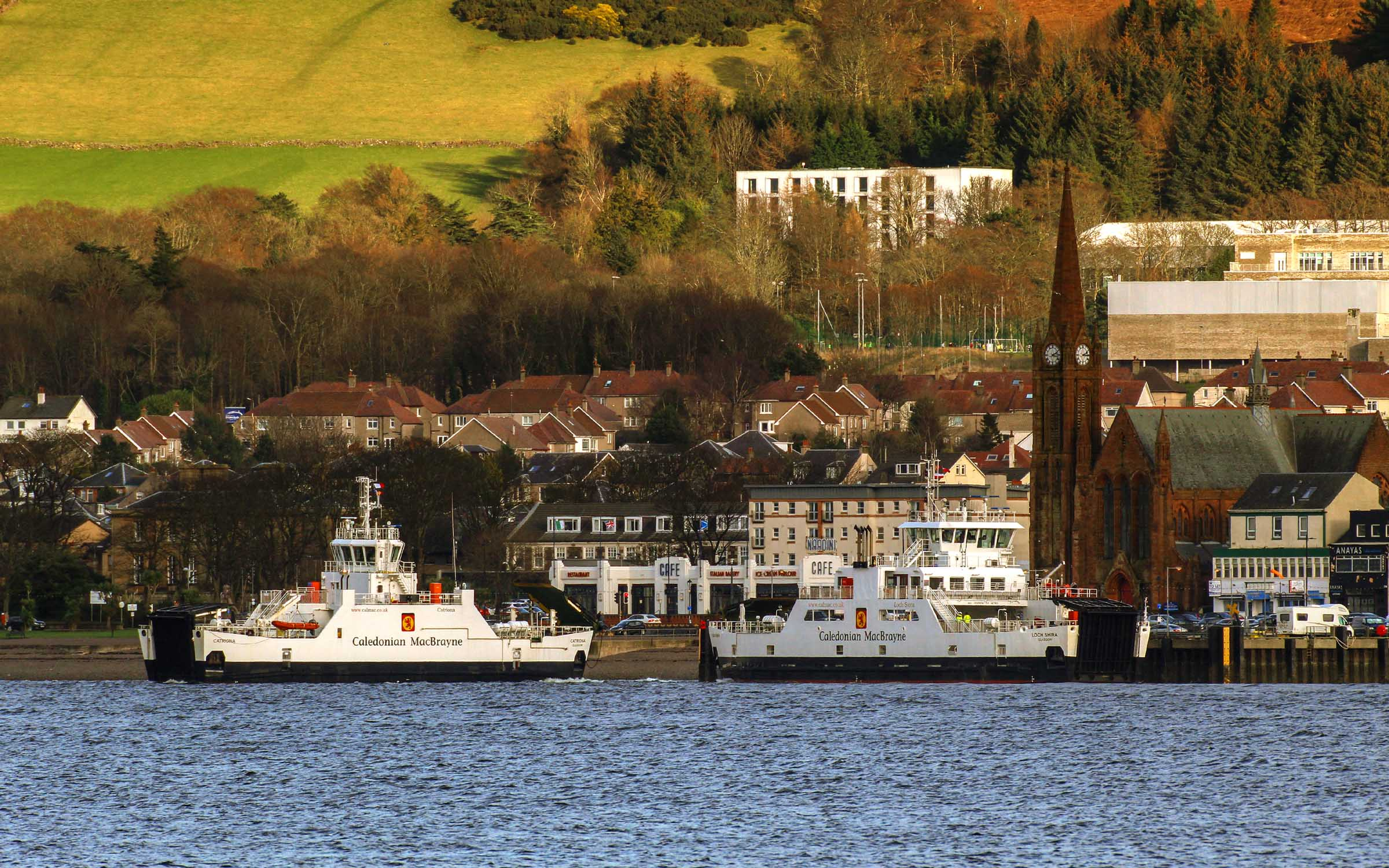 Catriona and Loch Shira at Largs (Ships of CalMac)
