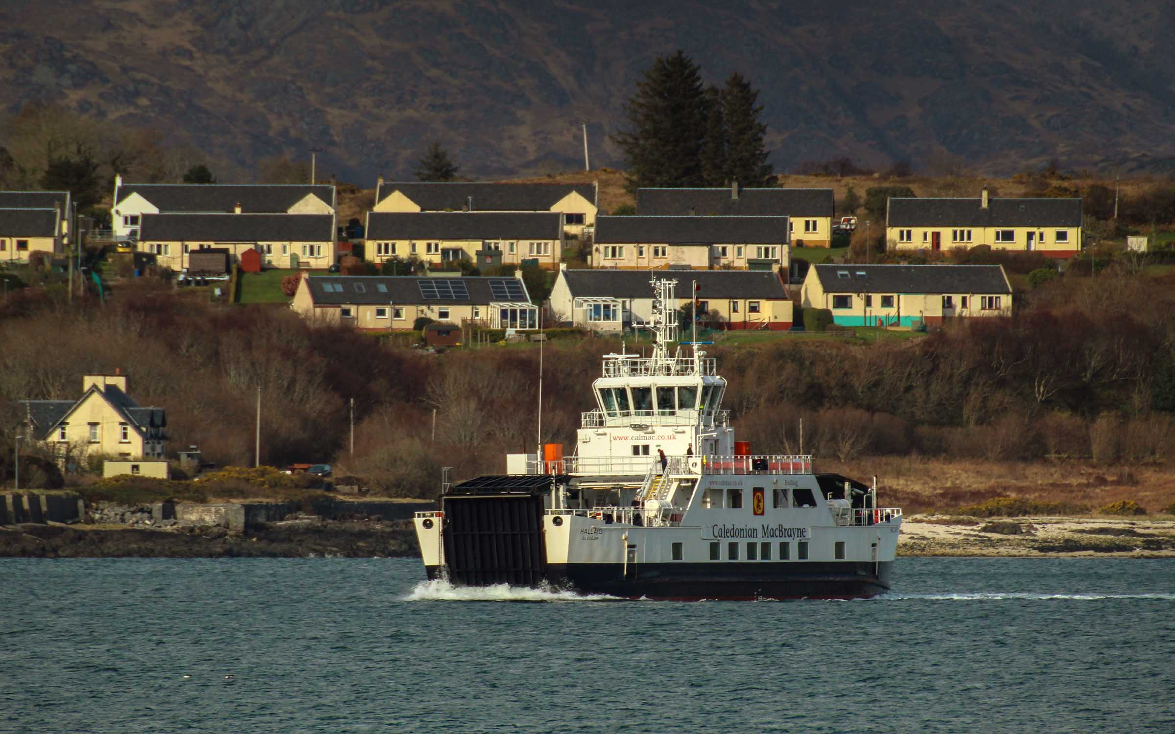 Hallaig relieving on the Lochaline - Fishnish run (Ships of CalMac)