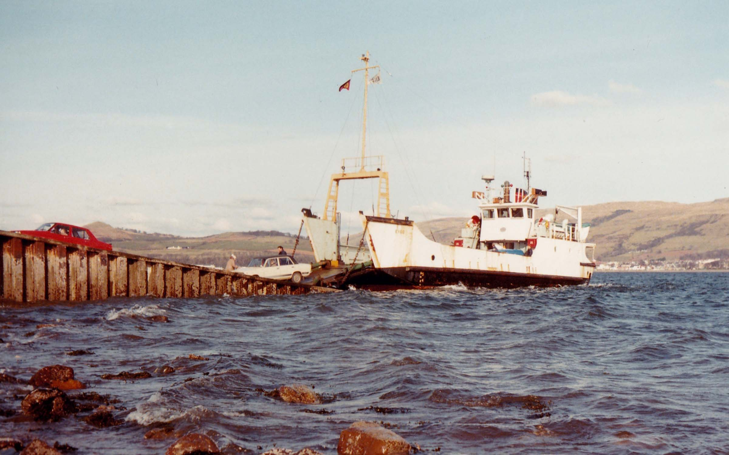 Eigg at Cumbrae Slip (Jim Aikman Smith)