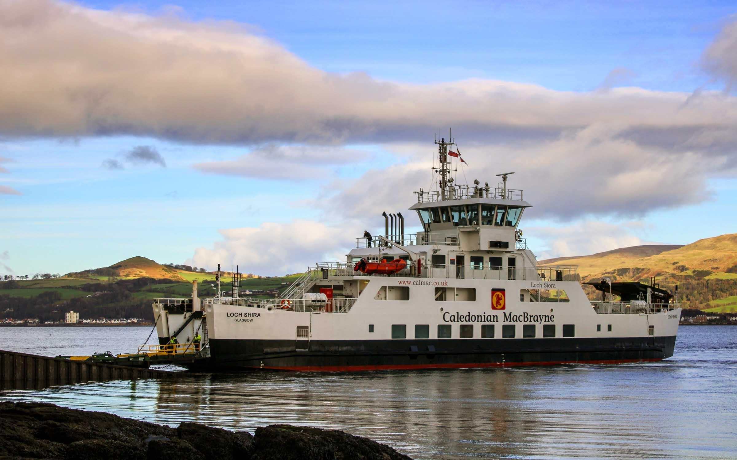 Loch Shira at Cumbrae Slip (Ships of CalMac)