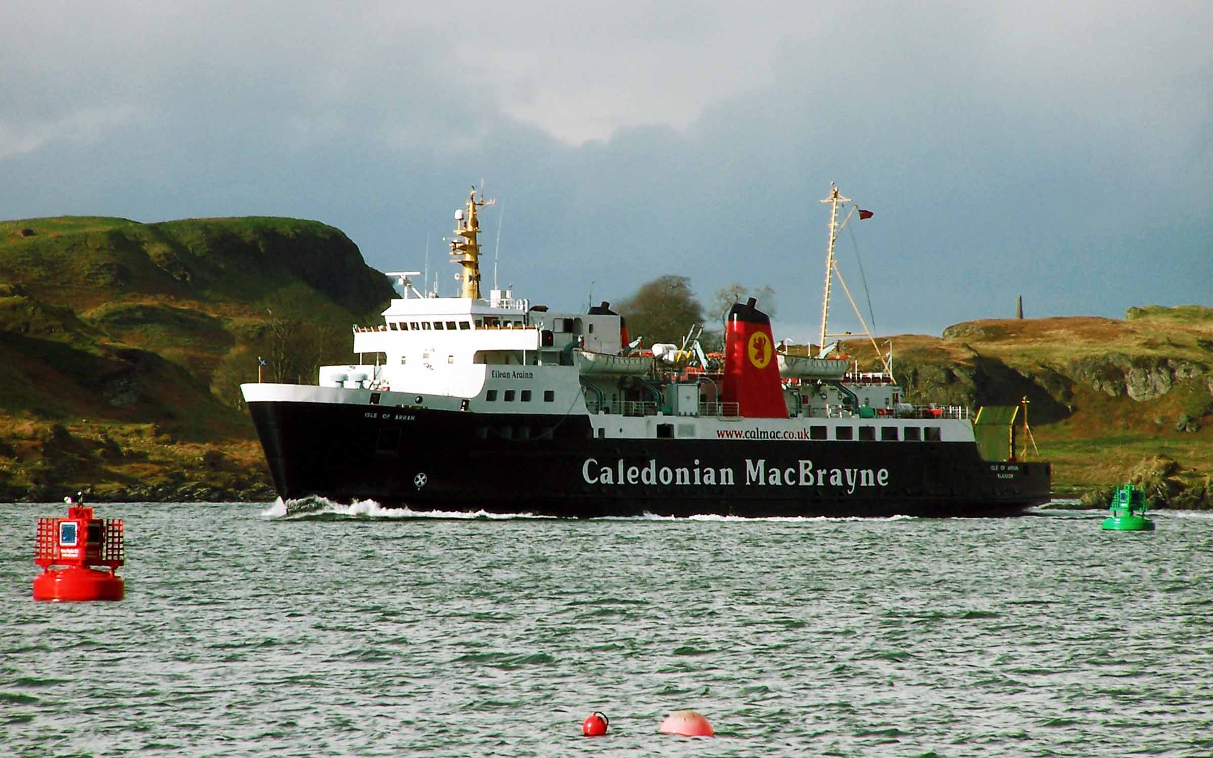 Isle of Arran in the Sound of Kerrera (Ships of CalMac)