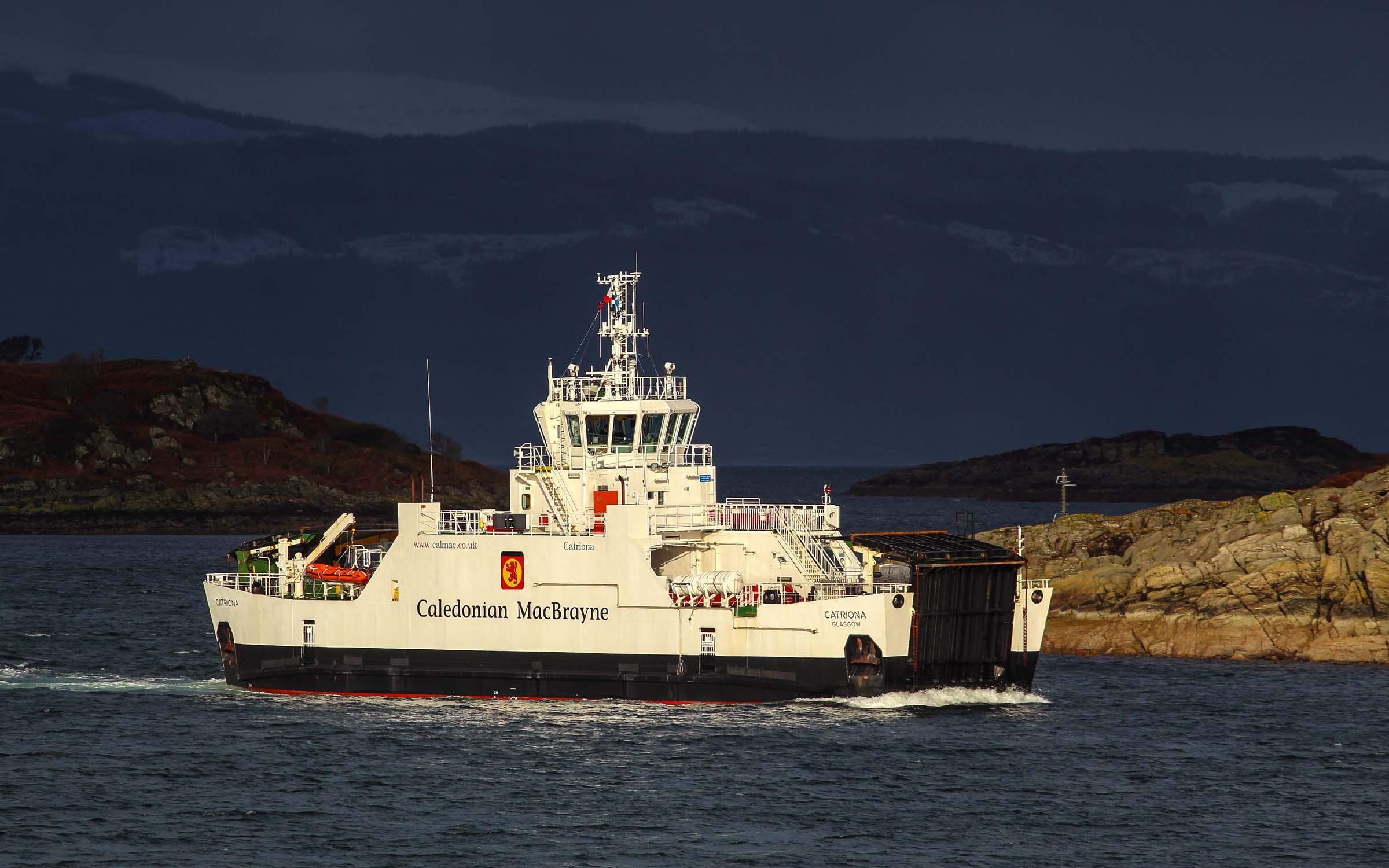 Catriona approaching Portavadie (Ships of CalMac)