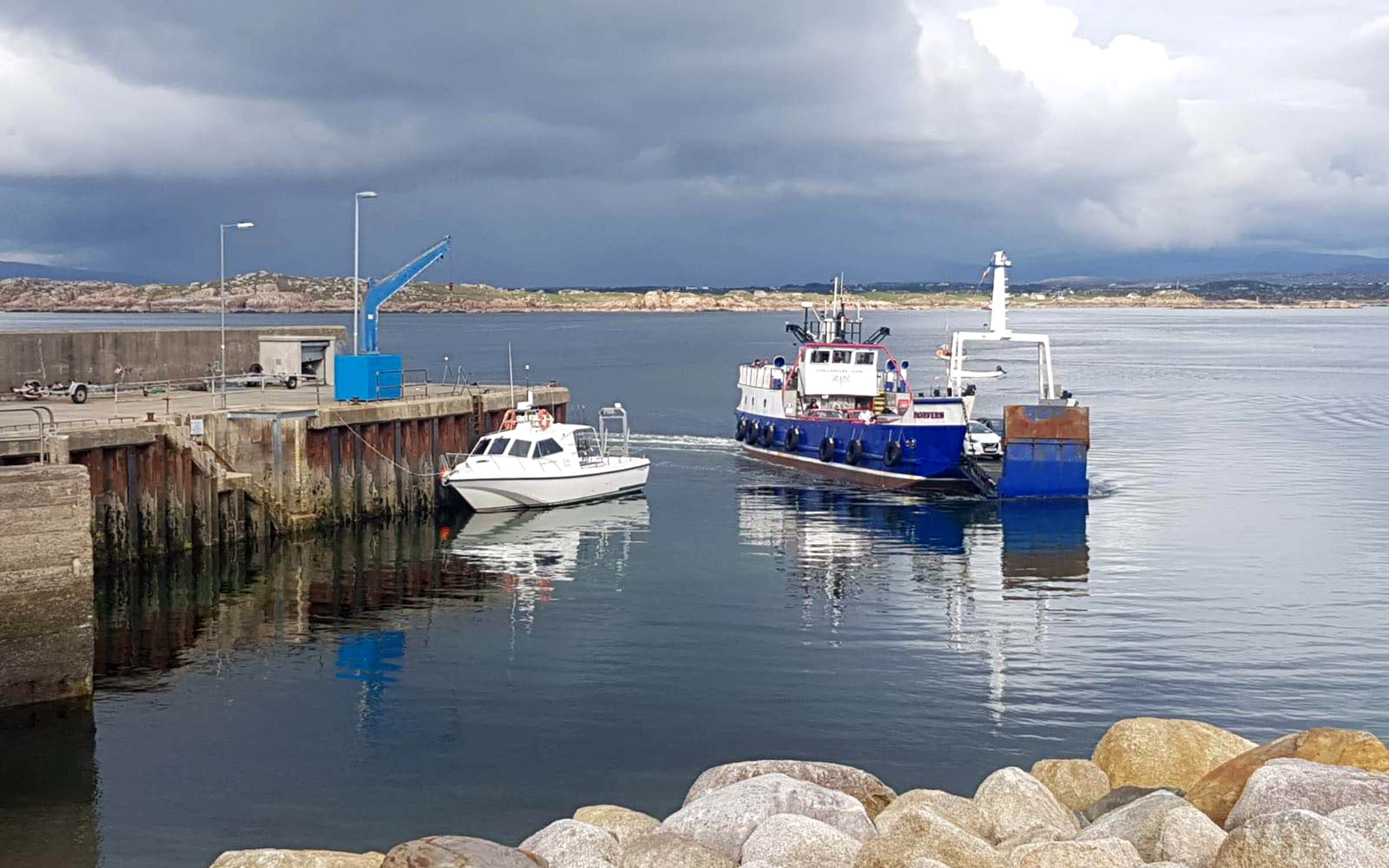 Morvern in her current role (Arranmore Ferry)