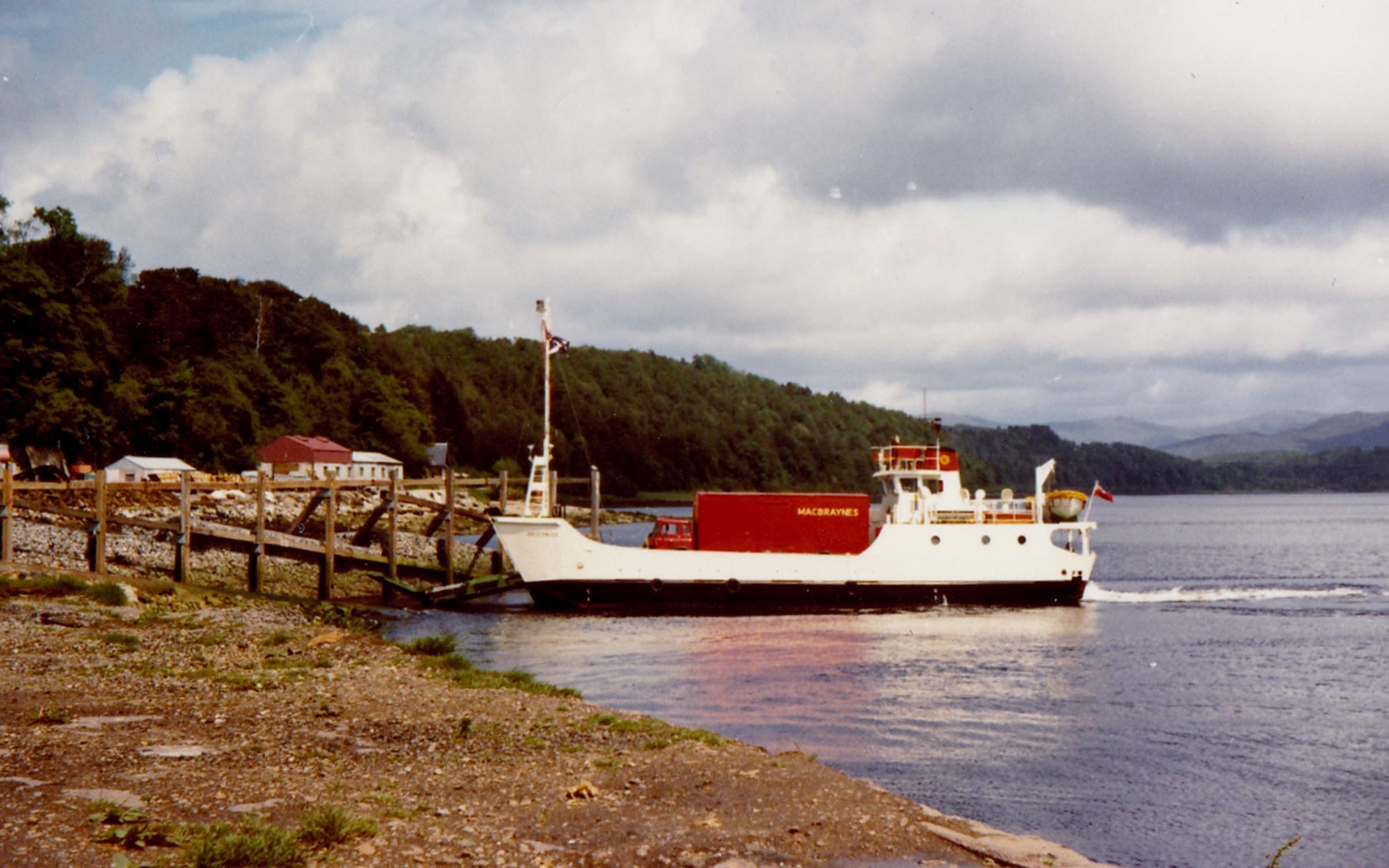 Bruernish arriving at Lochaline (Jim Aikman Smith)