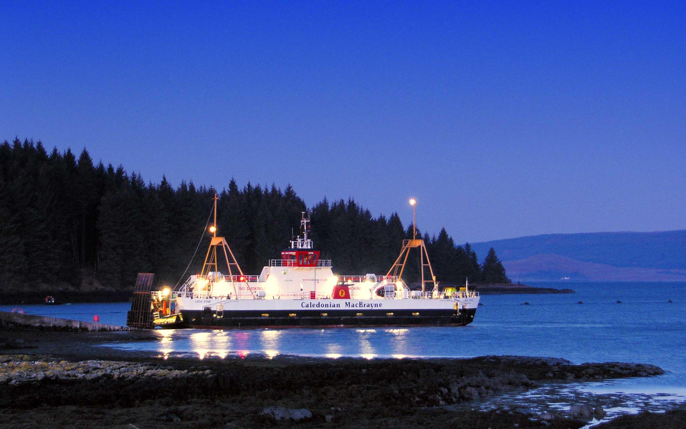 Loch Fyne at Fishnish slipway at dawn (Ships of CalMac)
