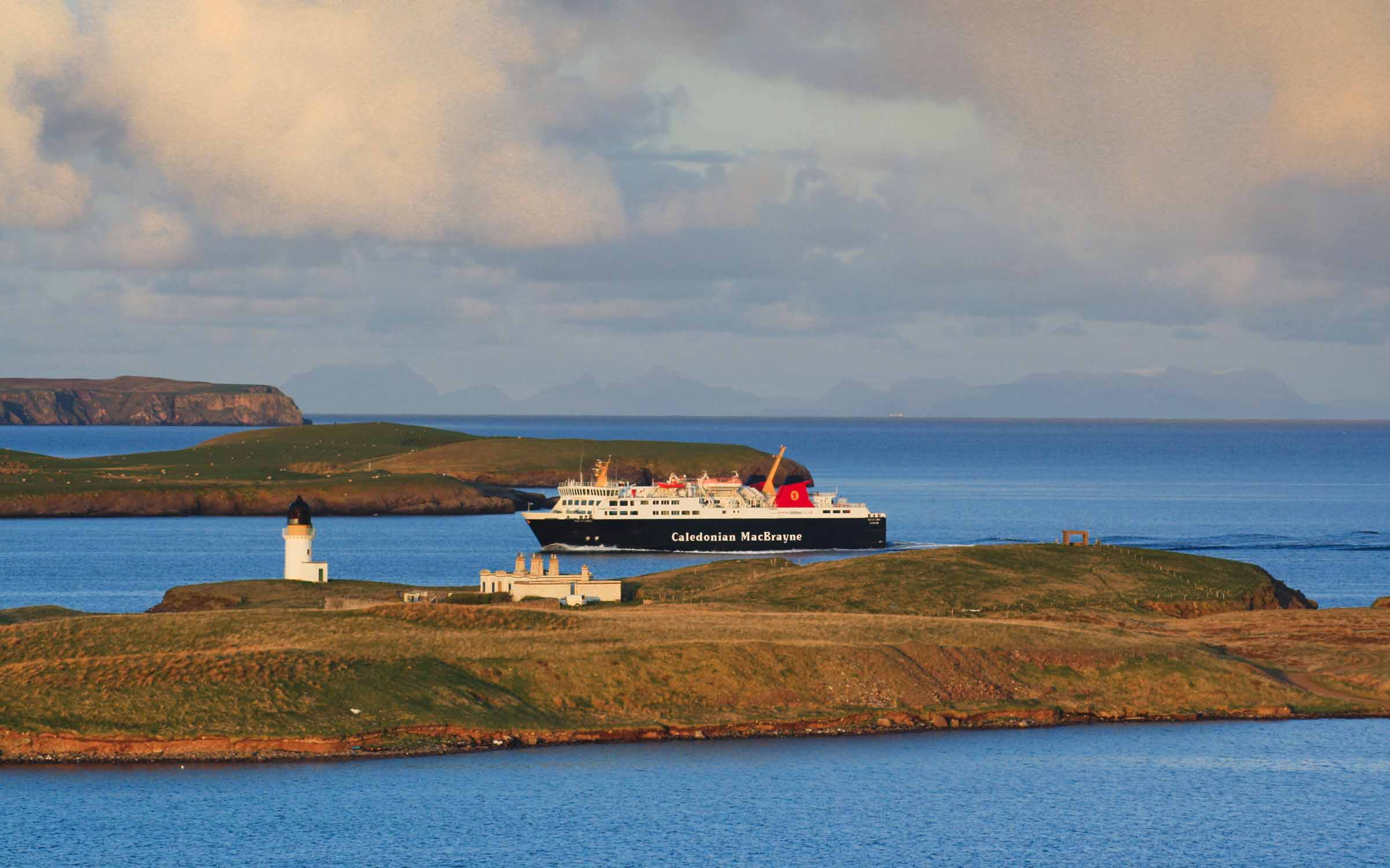 Isle of Lewis entering Stornoway Harbour (Ships of CalMac)