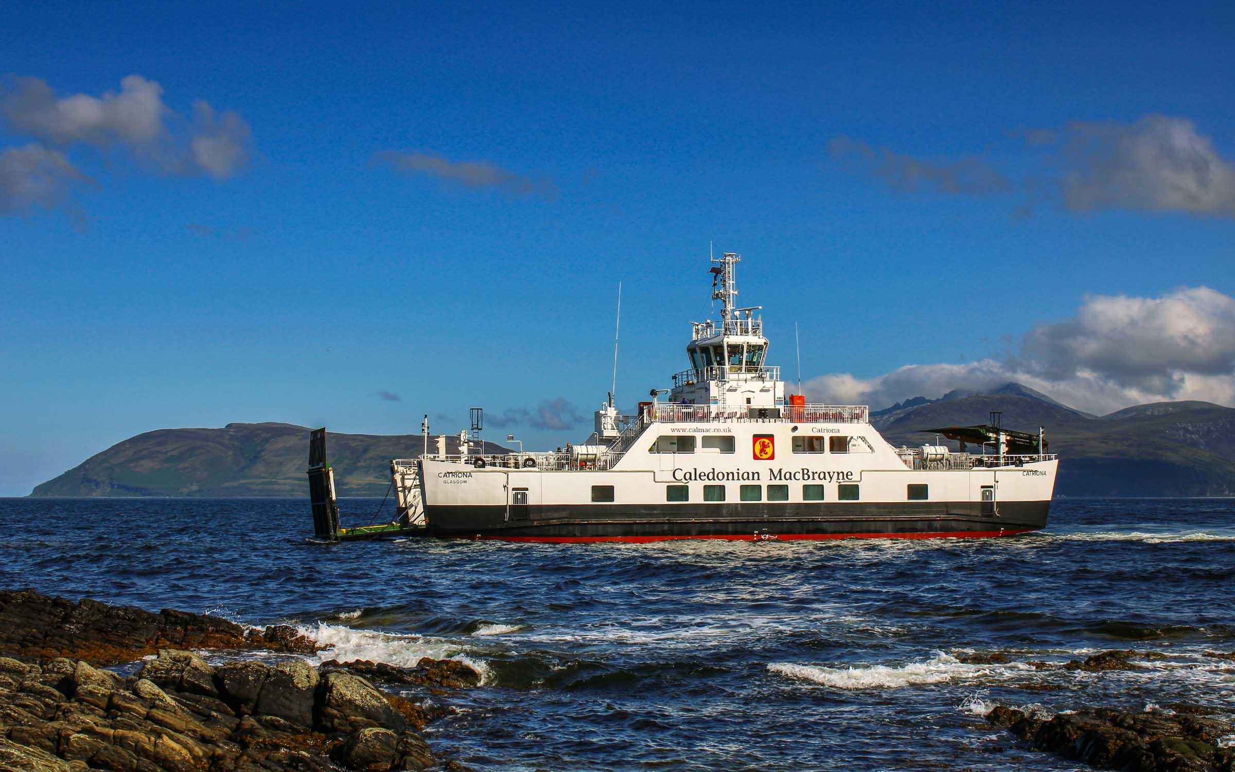 Catriona arriving at Claonaig (Photo: SoC Crew)