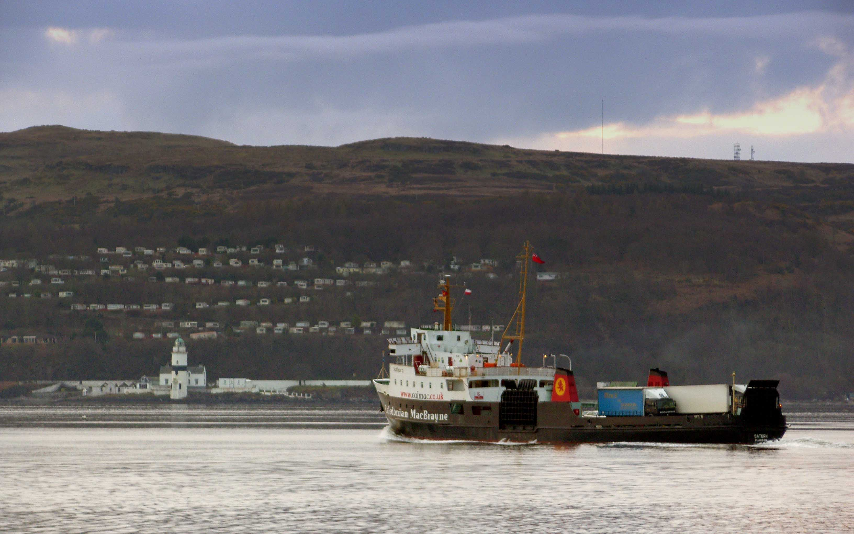Saturn with the Cloch behind (Ships of CalMac)
