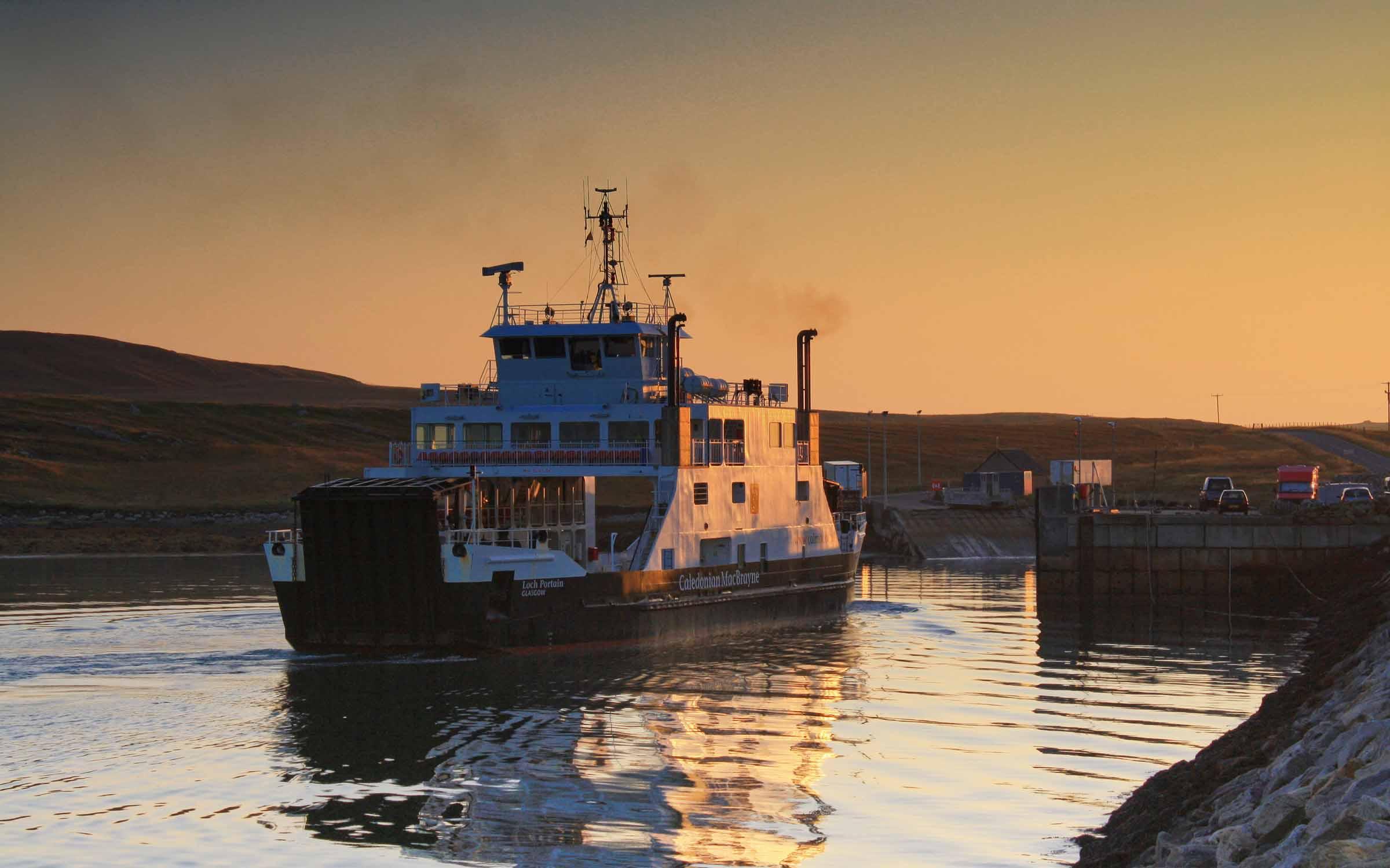 Loch Portain approaching Otternish