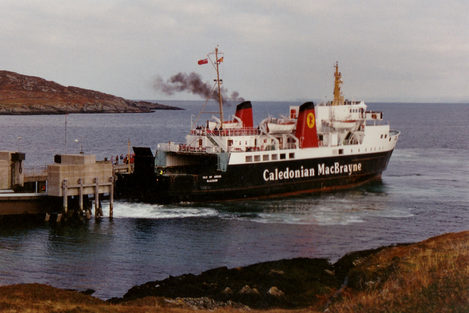 Isle of Arran arriving on Colonsay (Jim Aikman Smith)