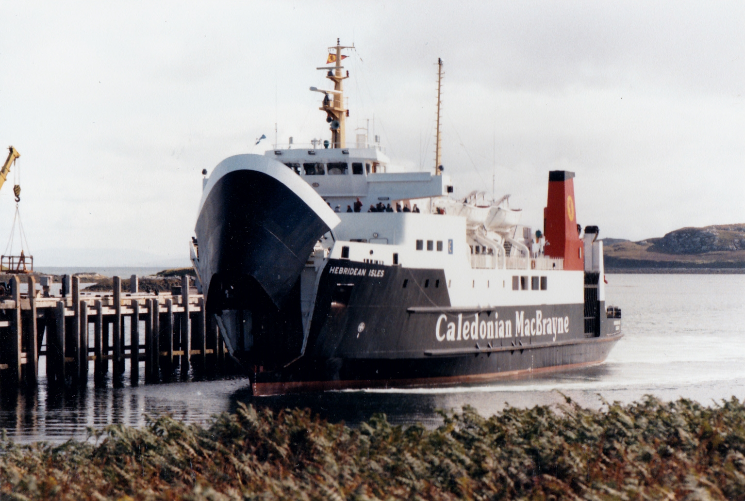 Hebridean Isles arriving at Lochmaddy (Jim Aikman Smith)