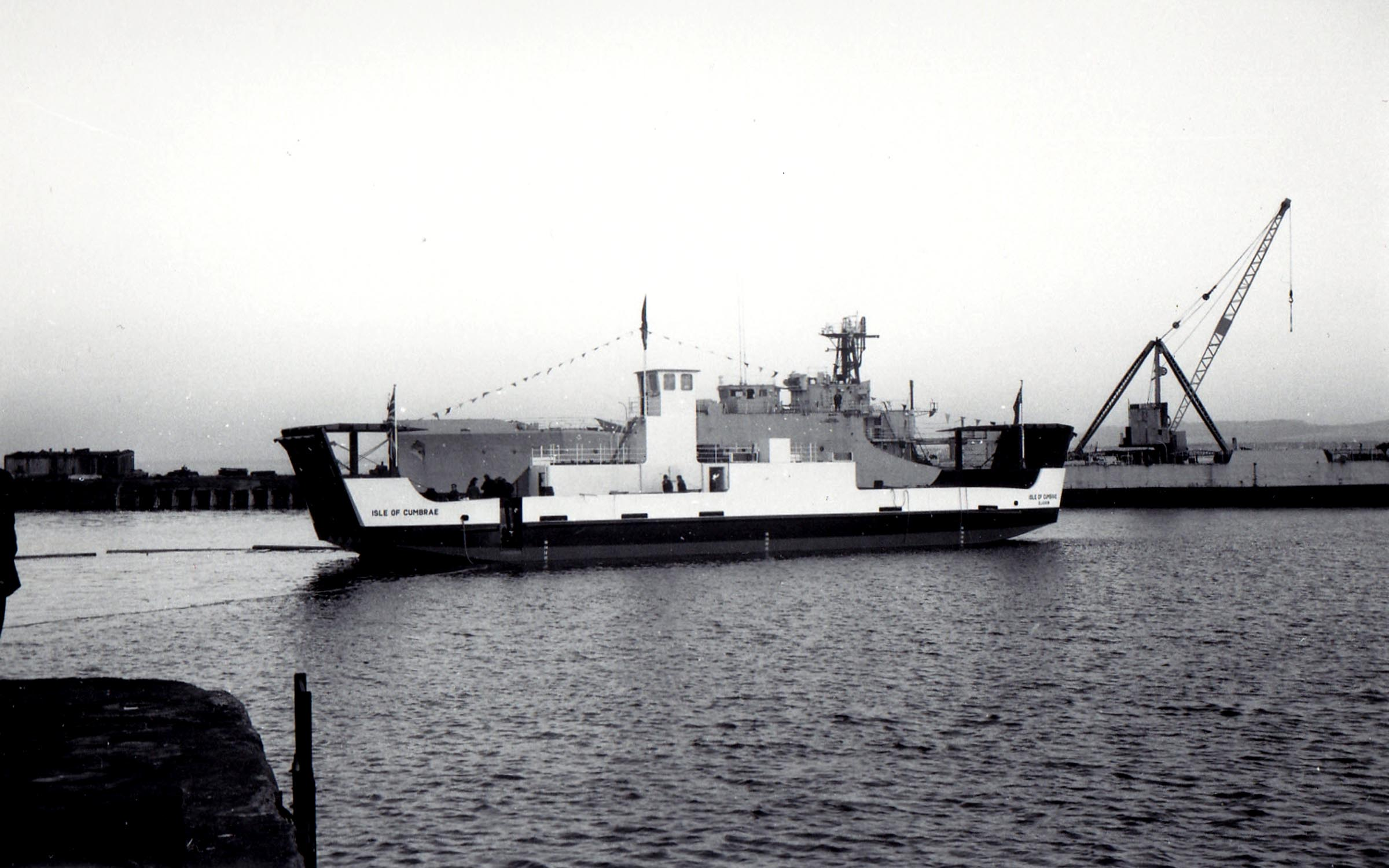 Isle of Cumbrae being launched (Jim Aikman Smith)