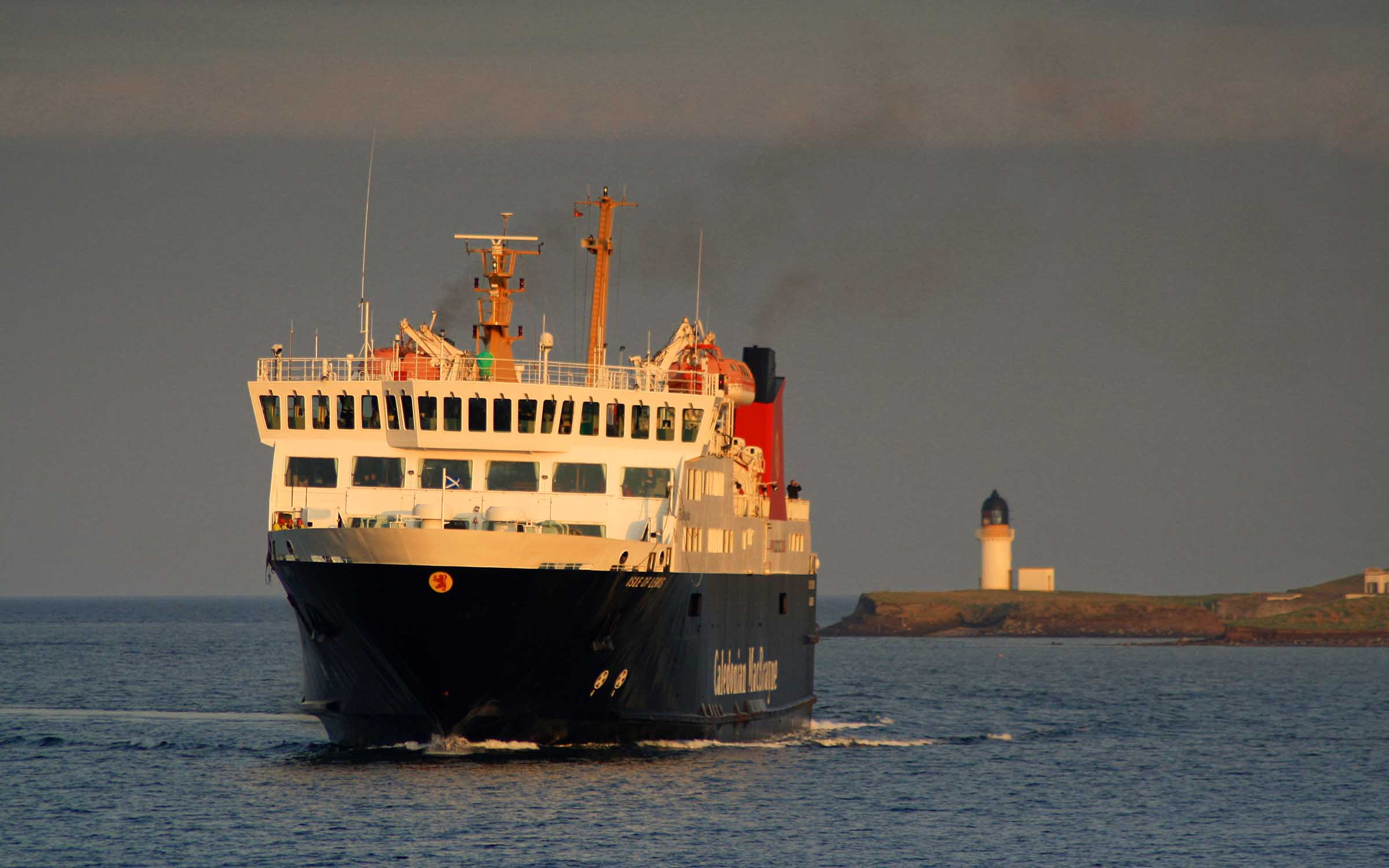 Isle of Lewis in Stornoway Harbour (Ships of CalMac)