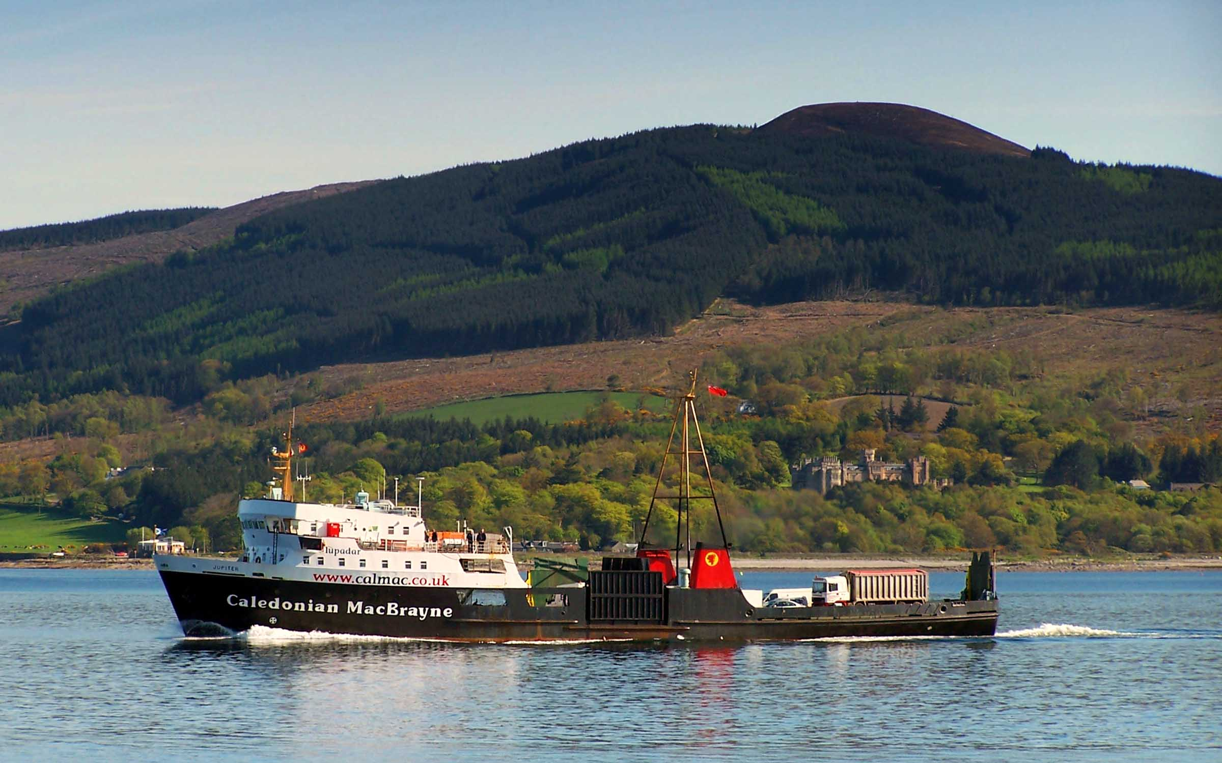 Jupiter passing Craigmore en route for Rothesay (Ships of CalMac)