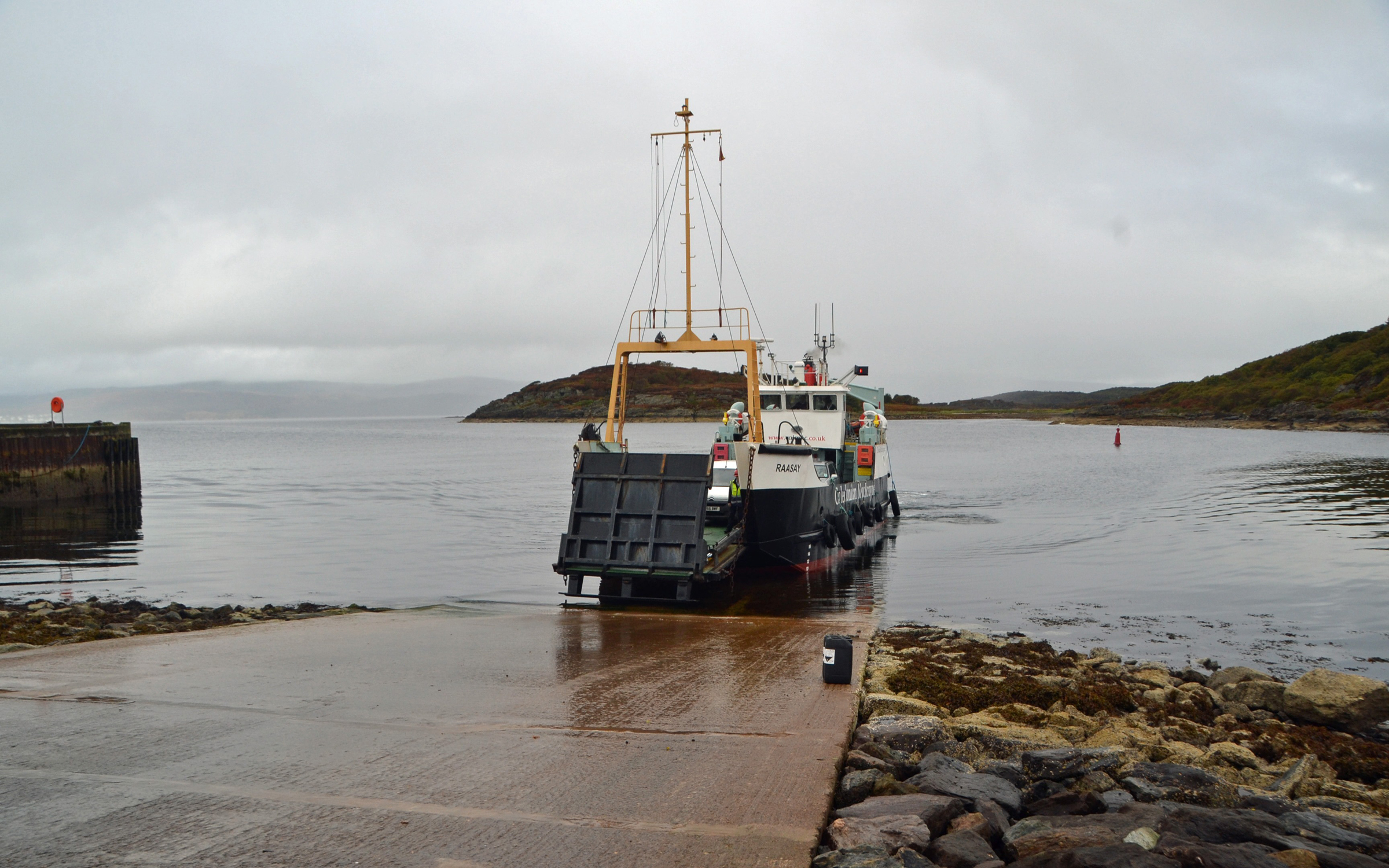 Raasay arriving at Portavadie (Ships of CalMac)