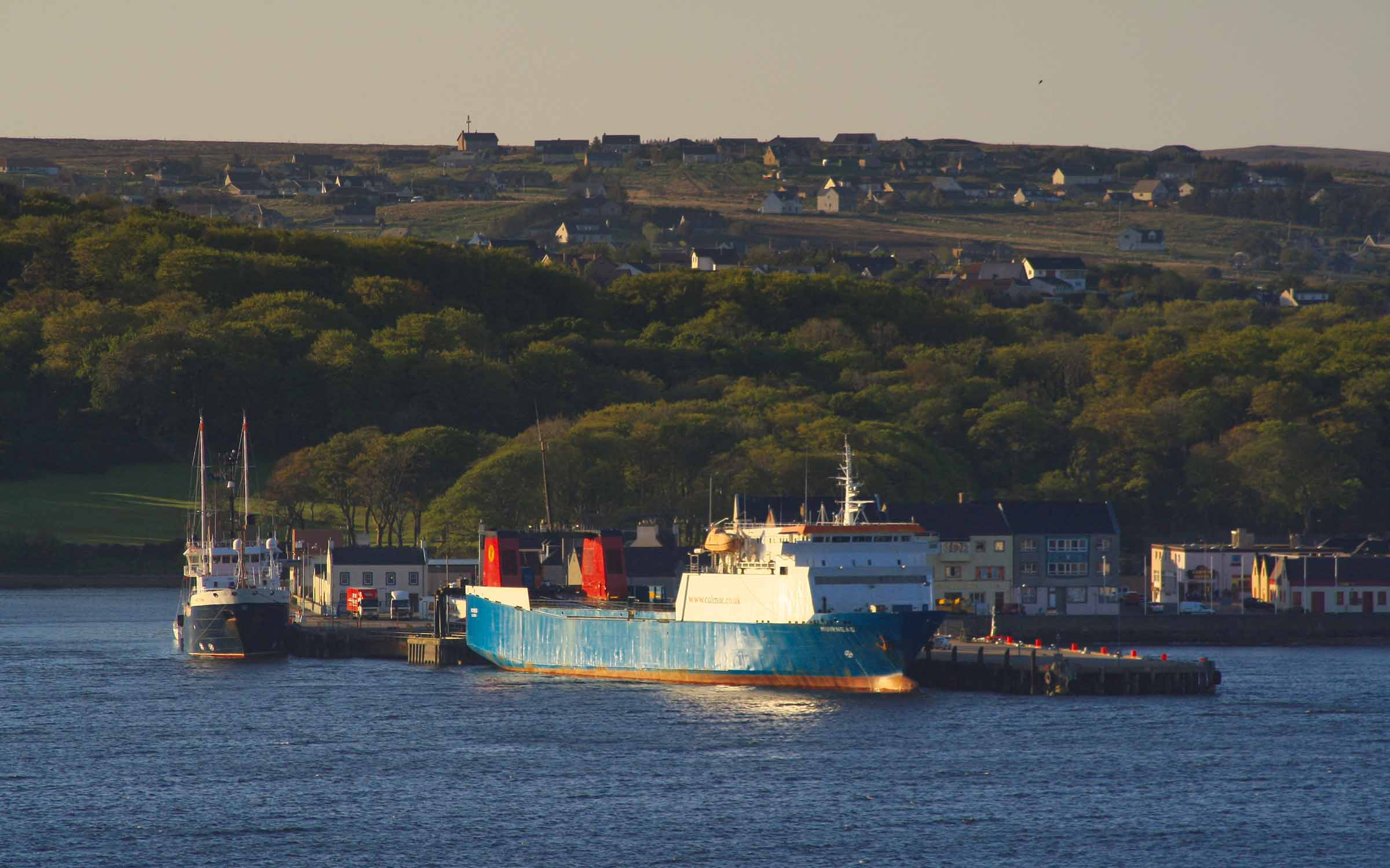 Muirneag alongside at Stornoway (Ships of CalMac)