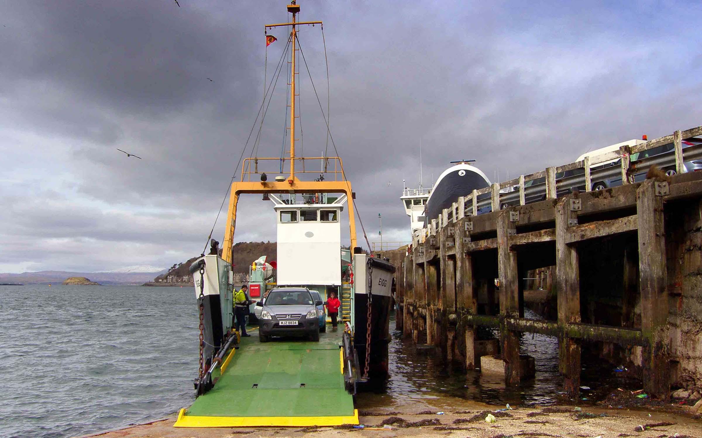 Eigg loading for Lismore (Ships of CalMac)