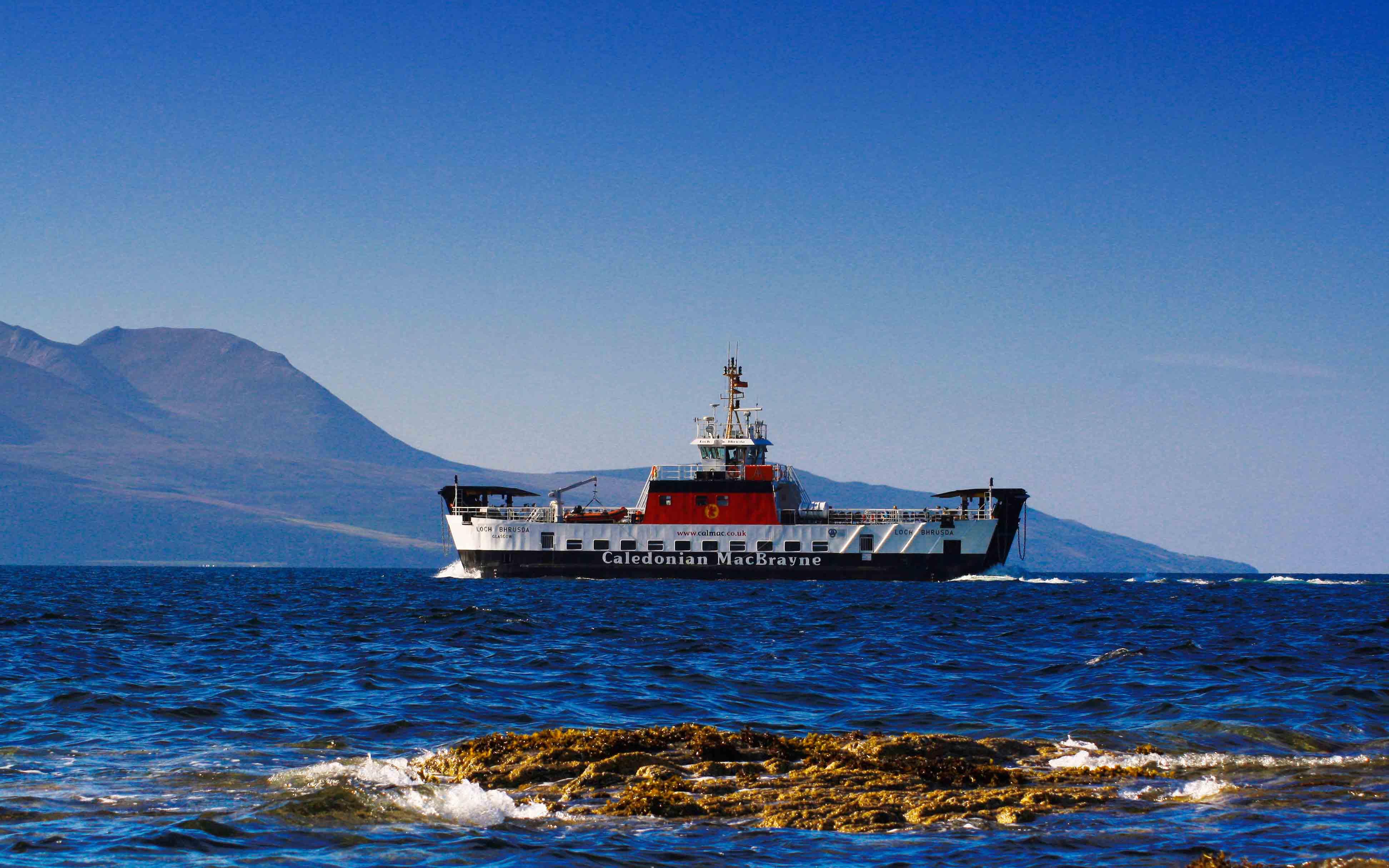 Loch Bhrusda leaving Claonaig (Ships of CalMac)