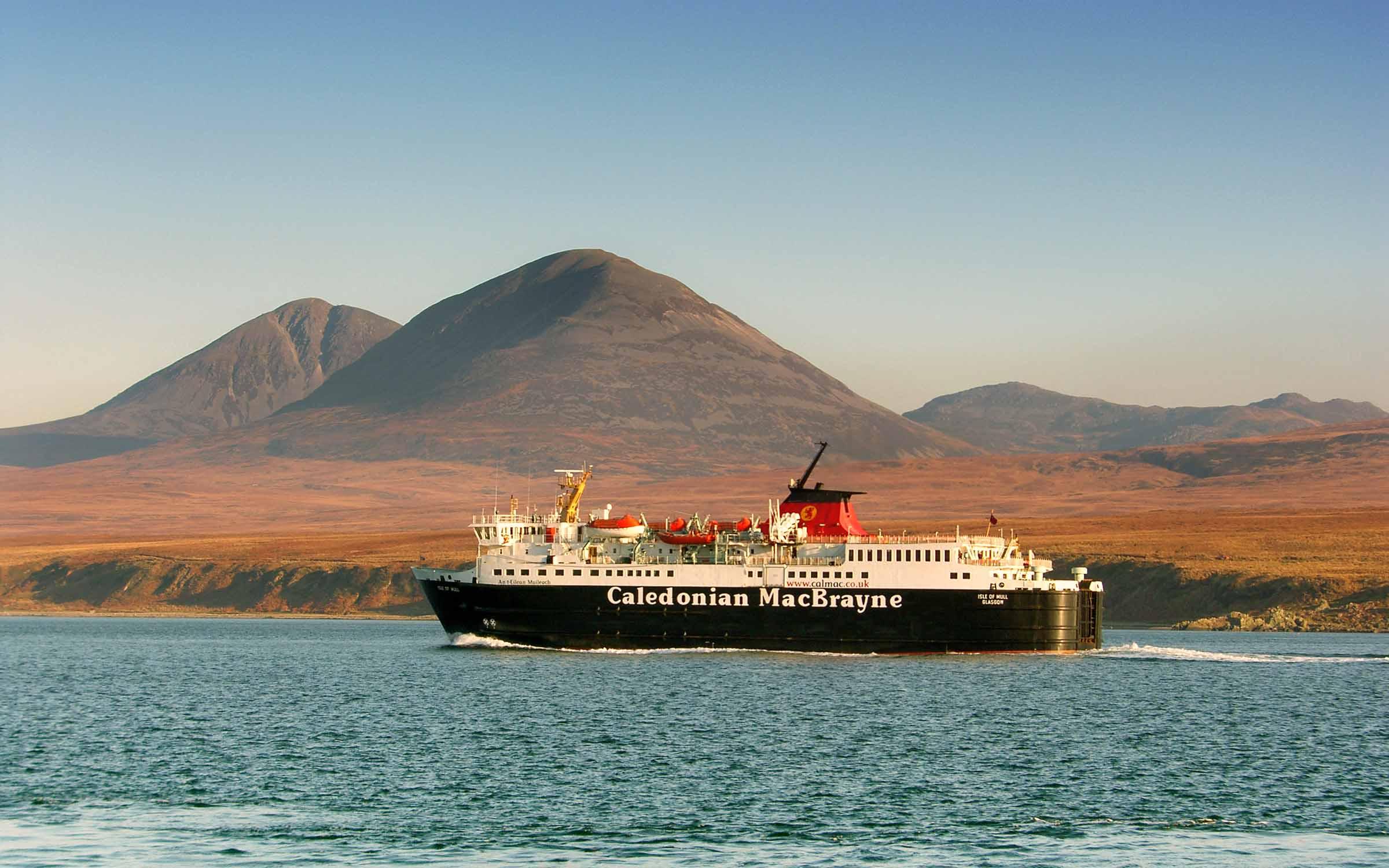 Isle of Mull passing Port Askaig (Ships of CalMac)