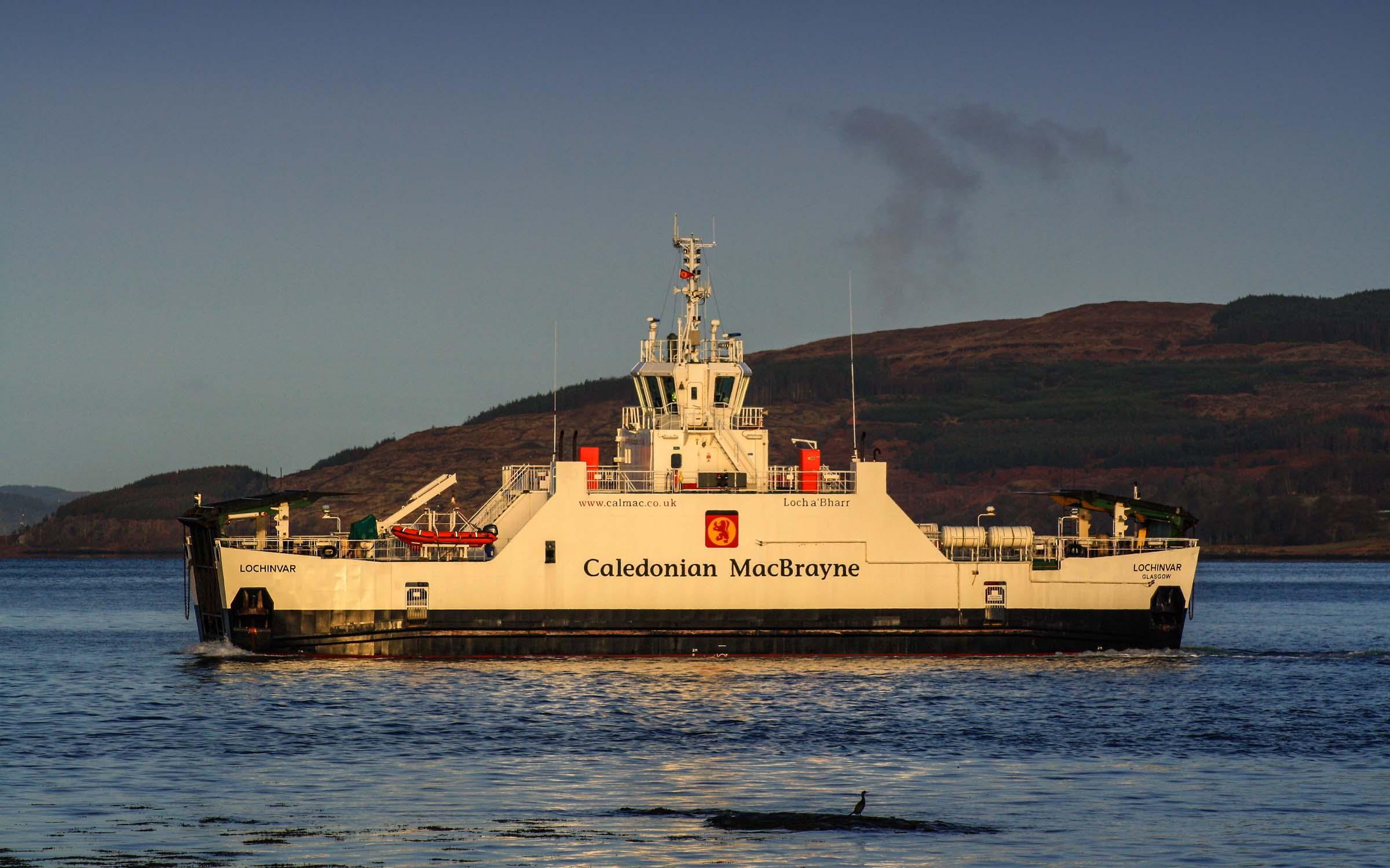 Lochinvar approaching Fishnish (Ships of CalMac)